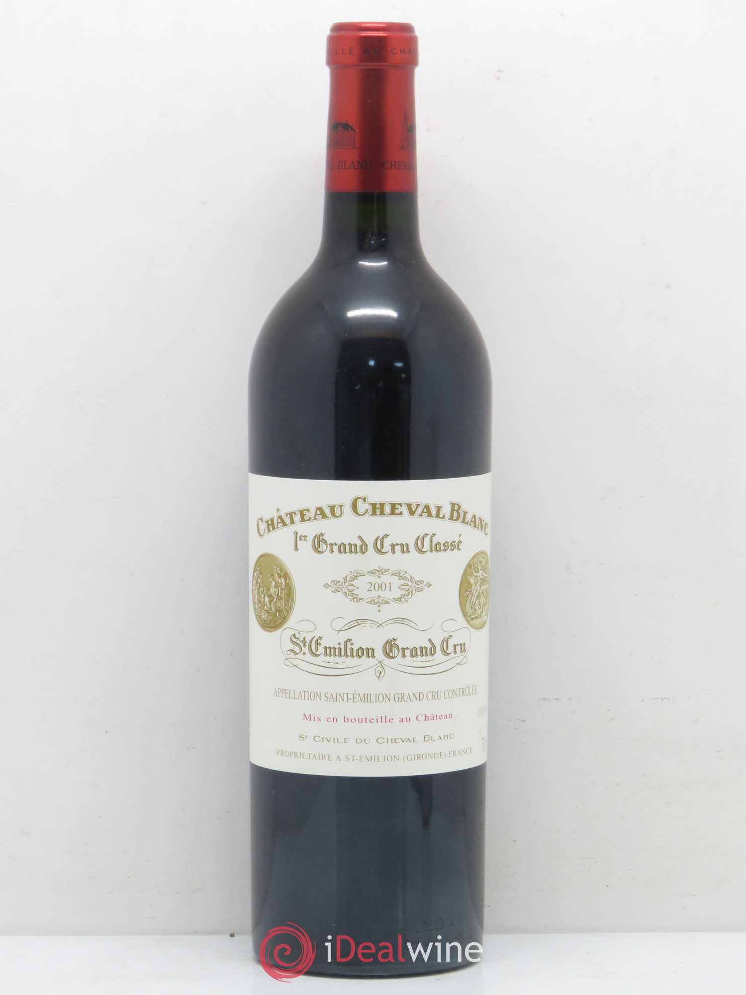 Château Cheval Blanc 1er Grand Cru Classé A  2001 - Lot of 1 Bottle