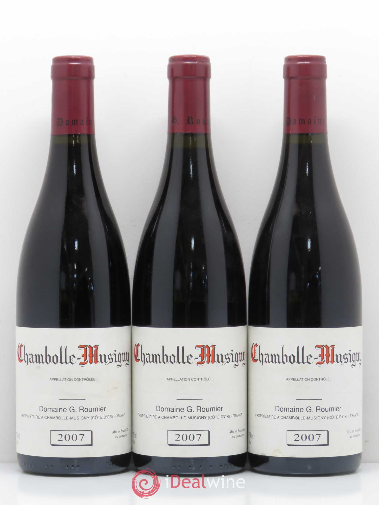 Chambolle-Musigny Georges Roumier (Domaine)  2007 - Lot de 3 Bouteilles