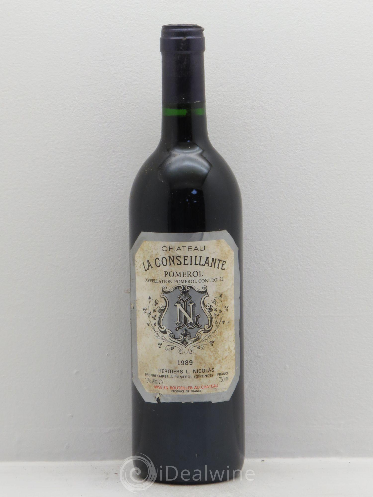 Buy Ch Teau La Conseillante No Reserve 1989 Lot 5637
