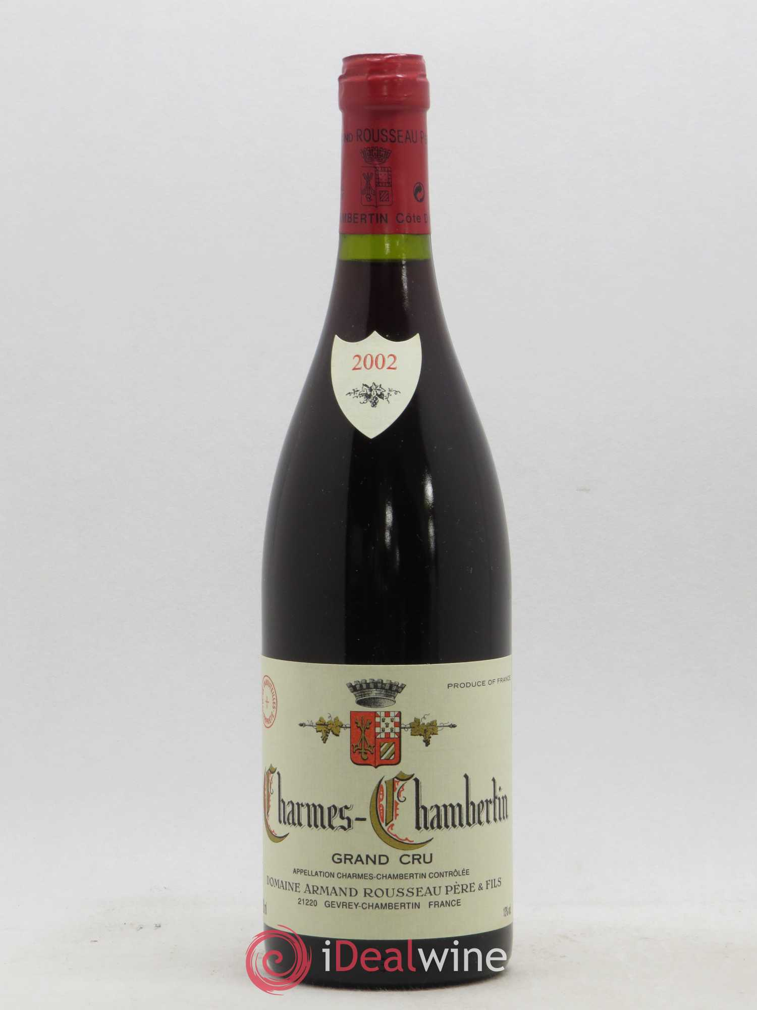Charmes-Chambertin Grand Cru Armand Rousseau (Domaine)  2002 - Lot of 1 Bottle