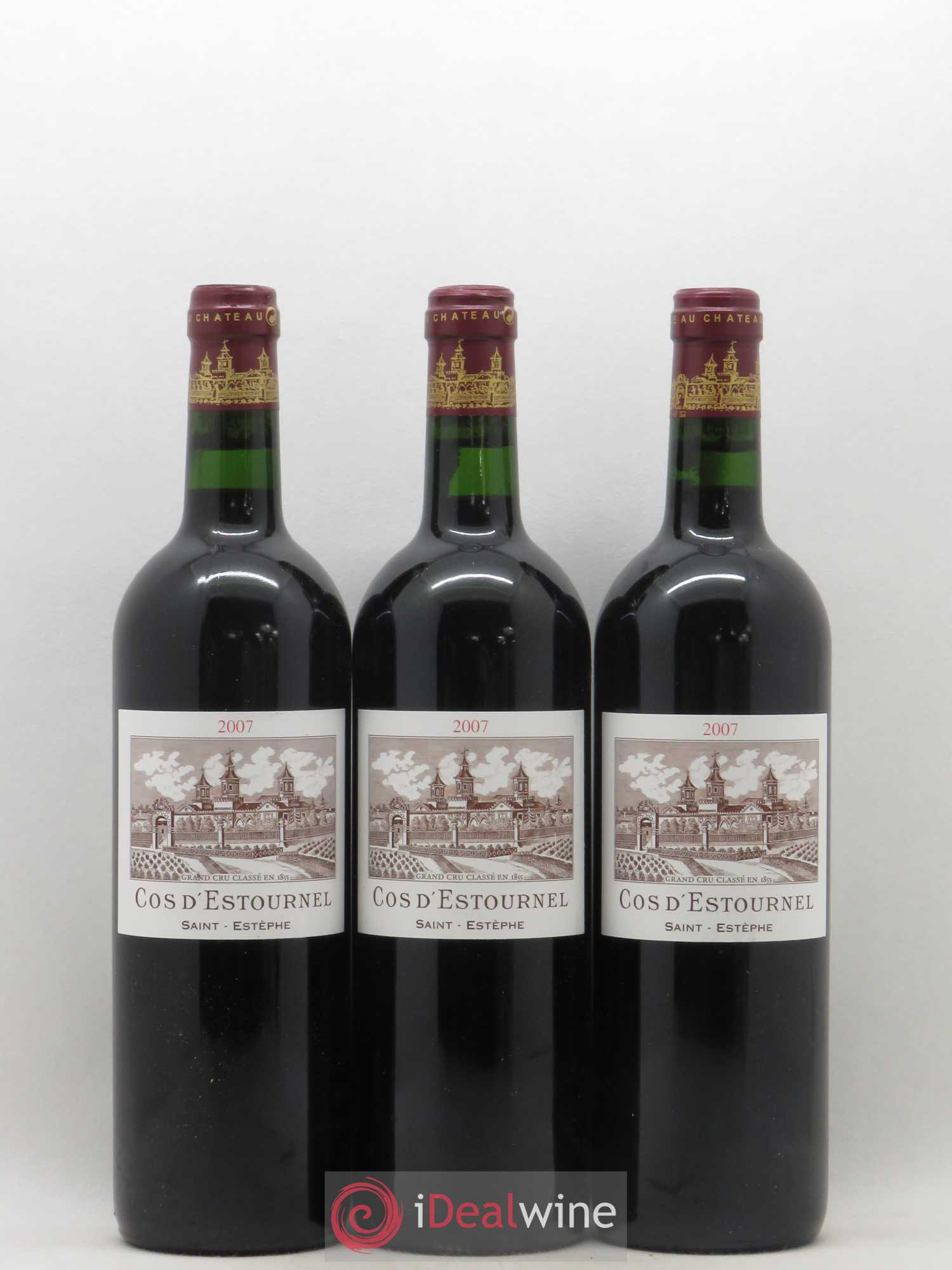 Cos d'Estournel 2ème Grand Cru Classé  2007 - Lot of 3 Bottles