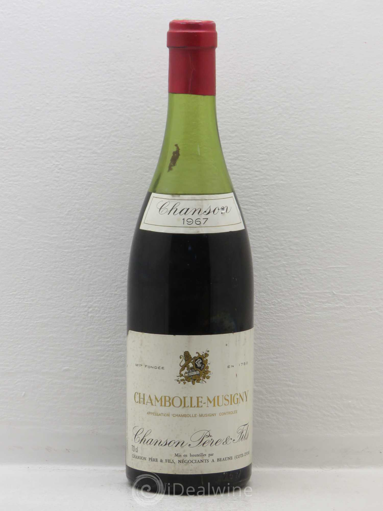 buy chambolle musigny maison chanson no reserve 1967