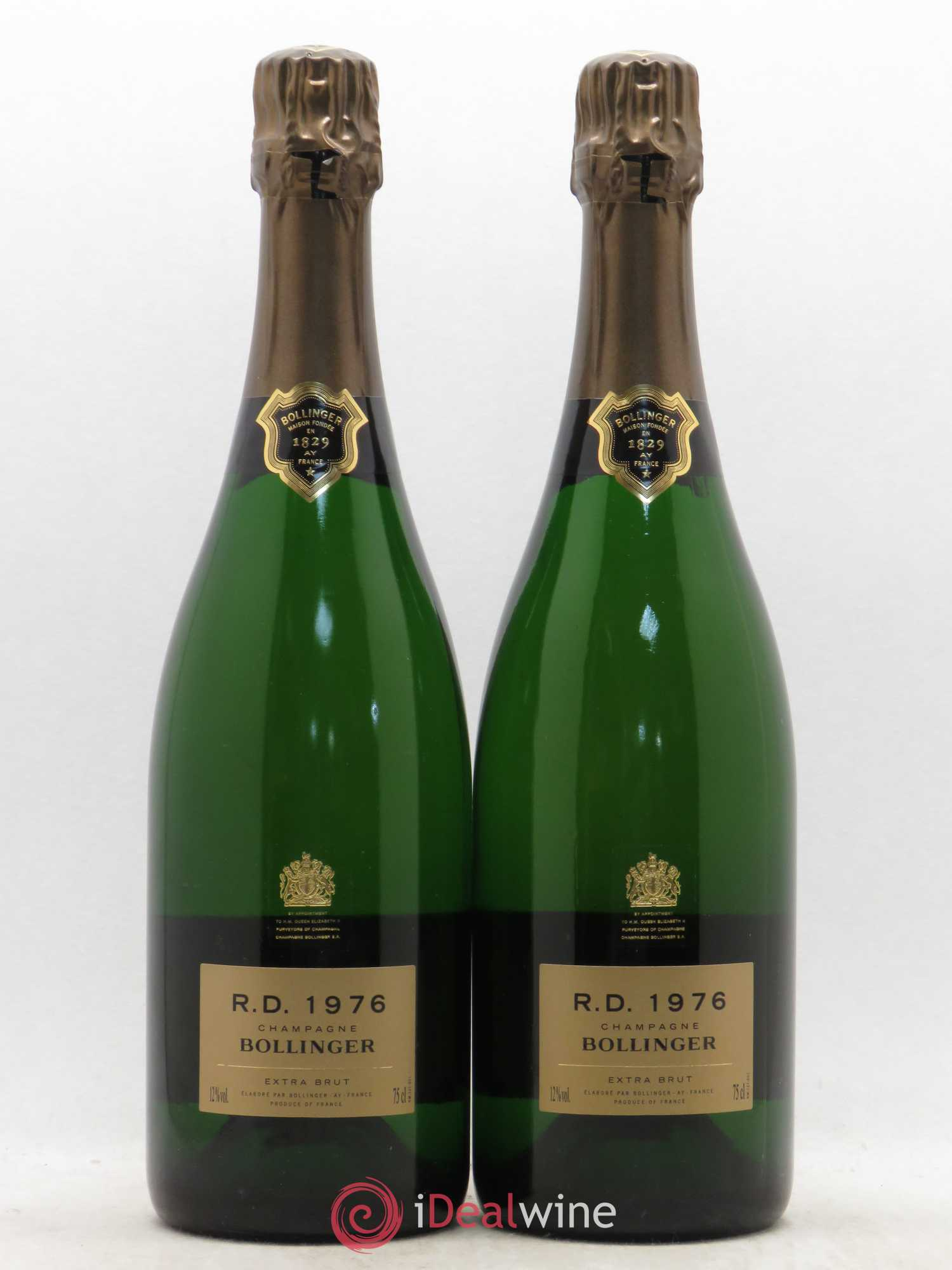 R.D. Bollinger  1976 - Lot of 2 Bottles