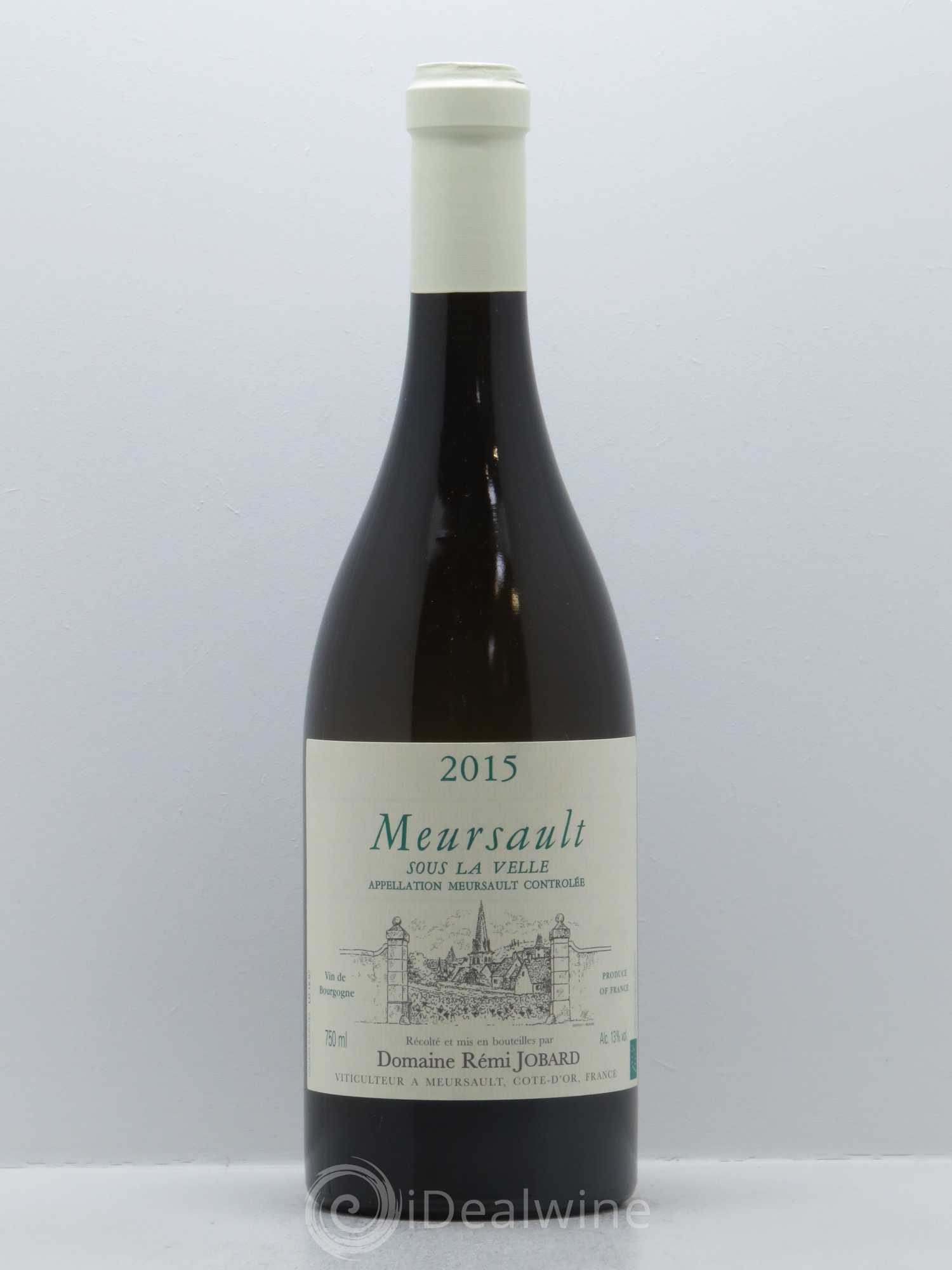 Meursault Sous la Velle Rémi Jobard (Domaine)  2015 - Lot of 1 Bottle