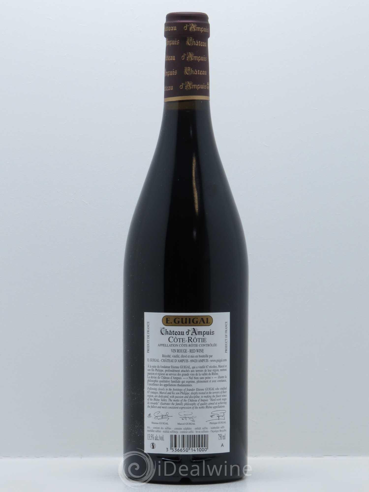 Acheter c te r tie ch teau d 39 ampuis guigal 2013 lot 862 - Salon des vins ampuis ...