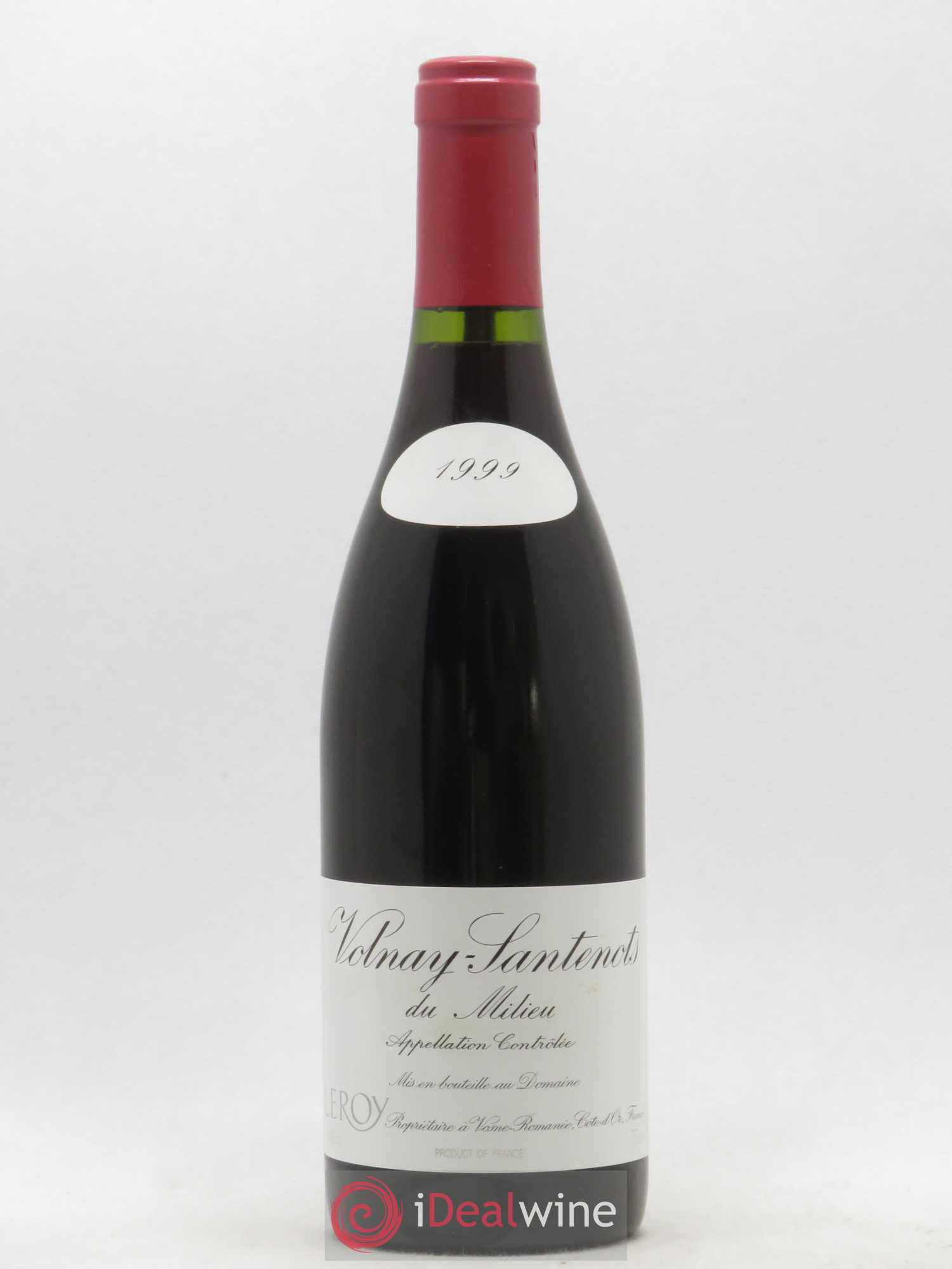 Volnay 1er Cru Santenots du Milieu Leroy (Domaine)  1999 - Lot of 1 Bottle