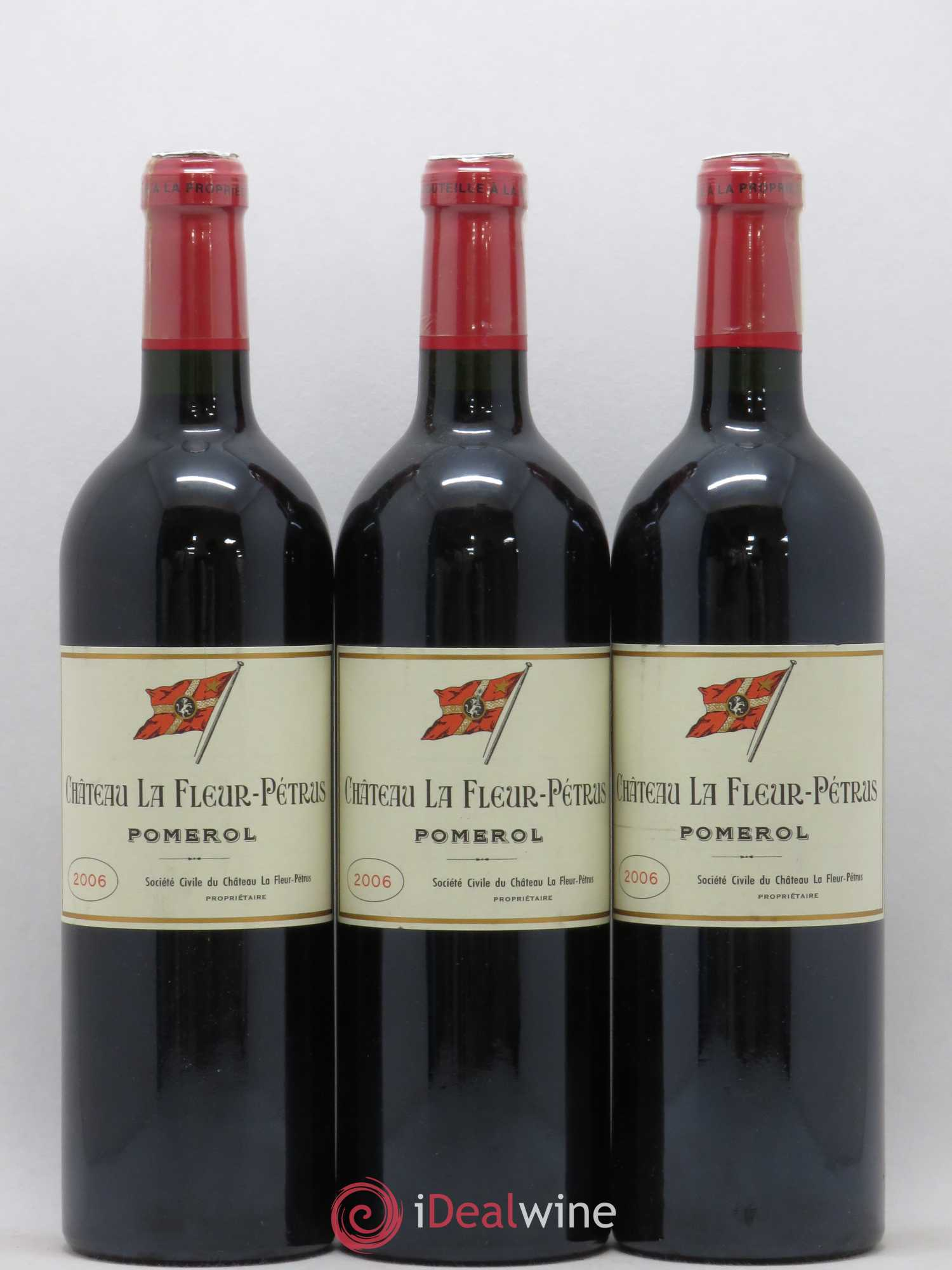 Château la Fleur Petrus  2006 - Lot of 3 Bottles