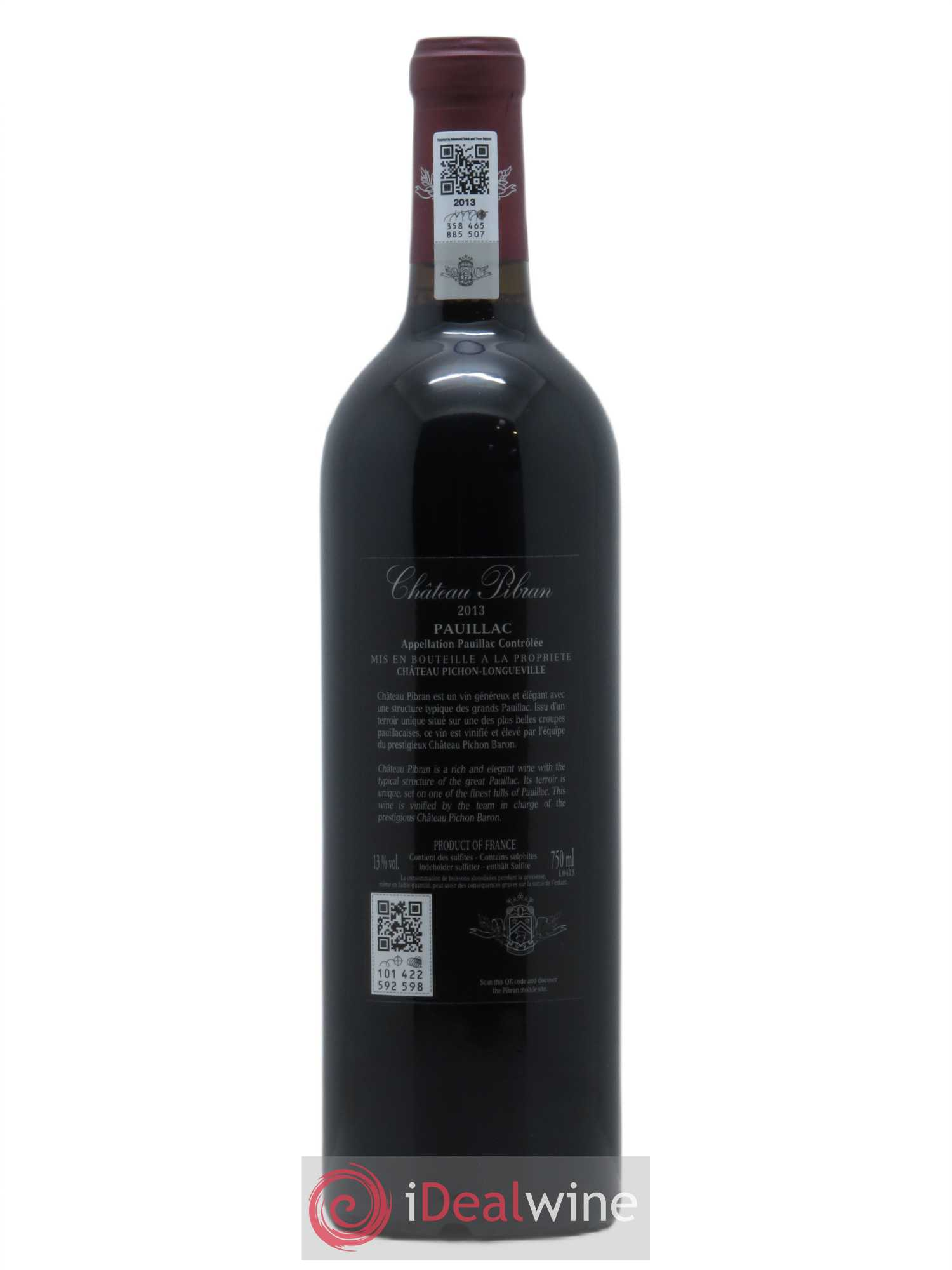 Buy ch teau pibran 2013 lot 259 for Buy chateaubriand