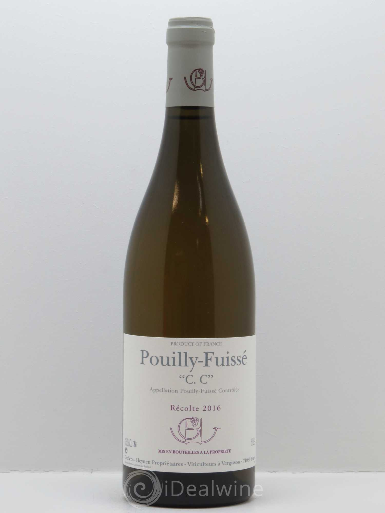 Pouilly-Fuissé C.C. Guffens-Heynen (Domaine)  2016 - Lot of 1 Bottle