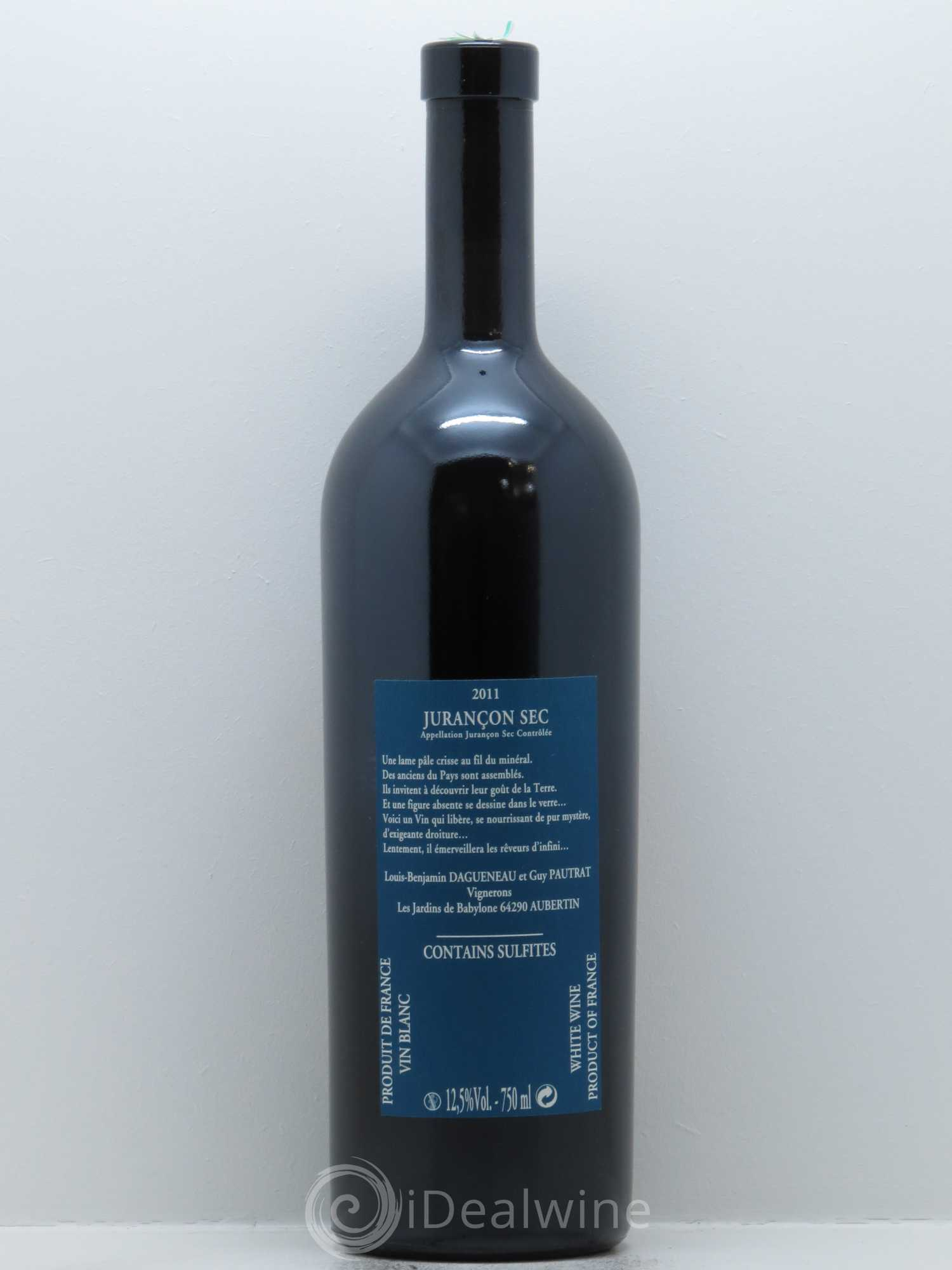 Acheter juran on sec les jardins de babylone didier for Jardin de babylone wine