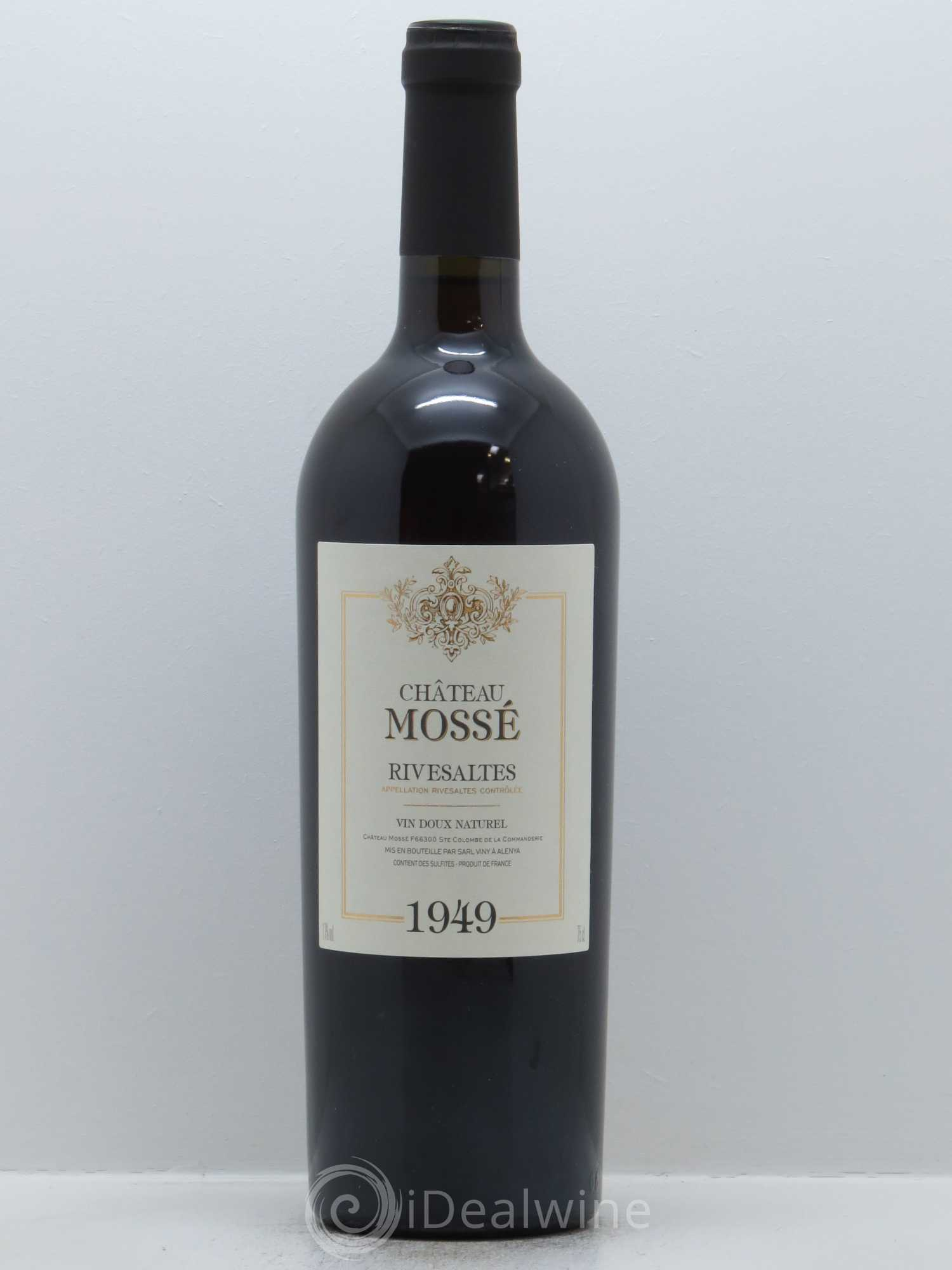 Rivesaltes Château Mossé  1949 - Lot of 1 Bottle