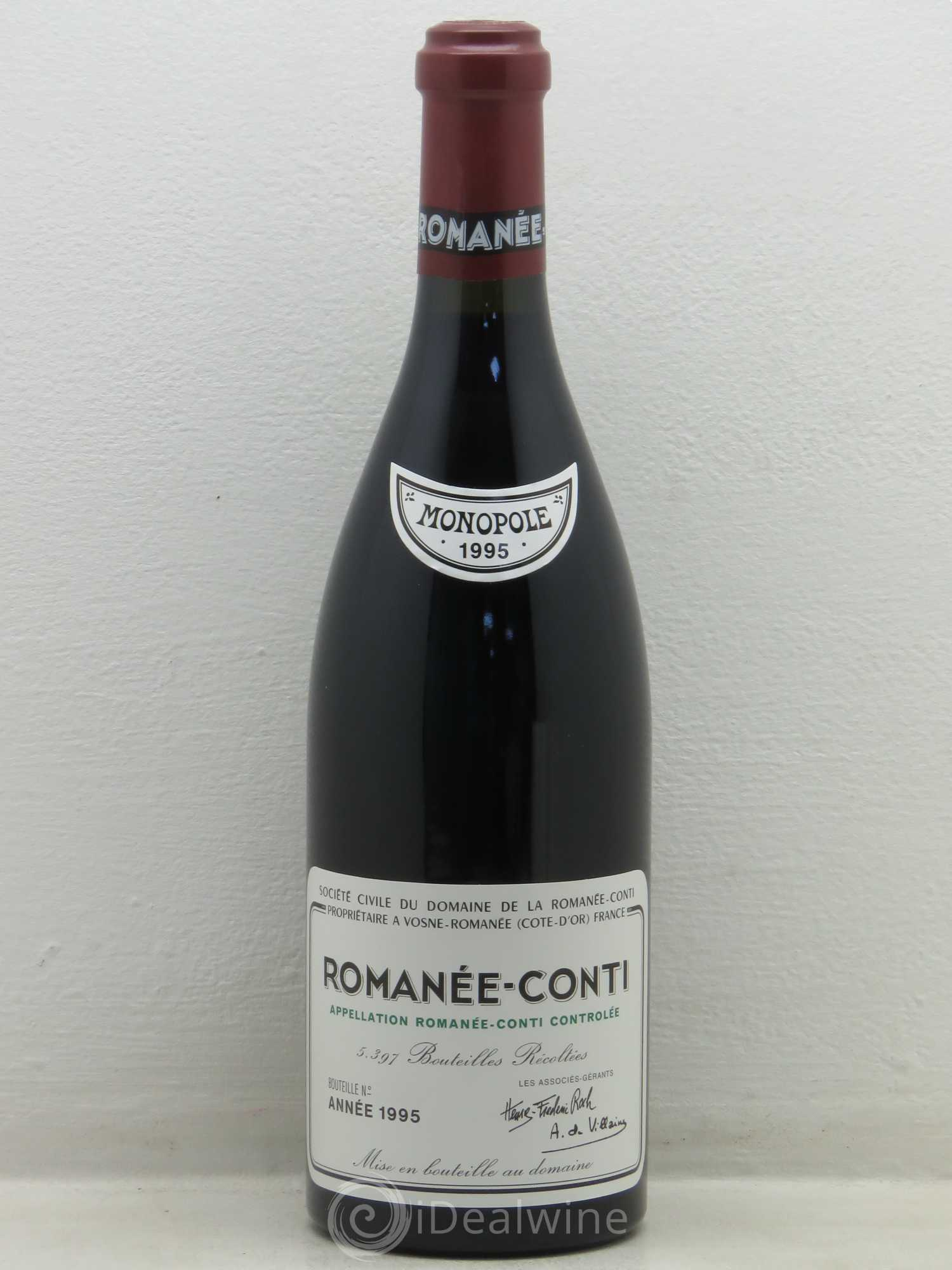Romanée-Conti Grand Cru Domaine de la Romanée-Conti  1995 - Lot of 1 Bottle