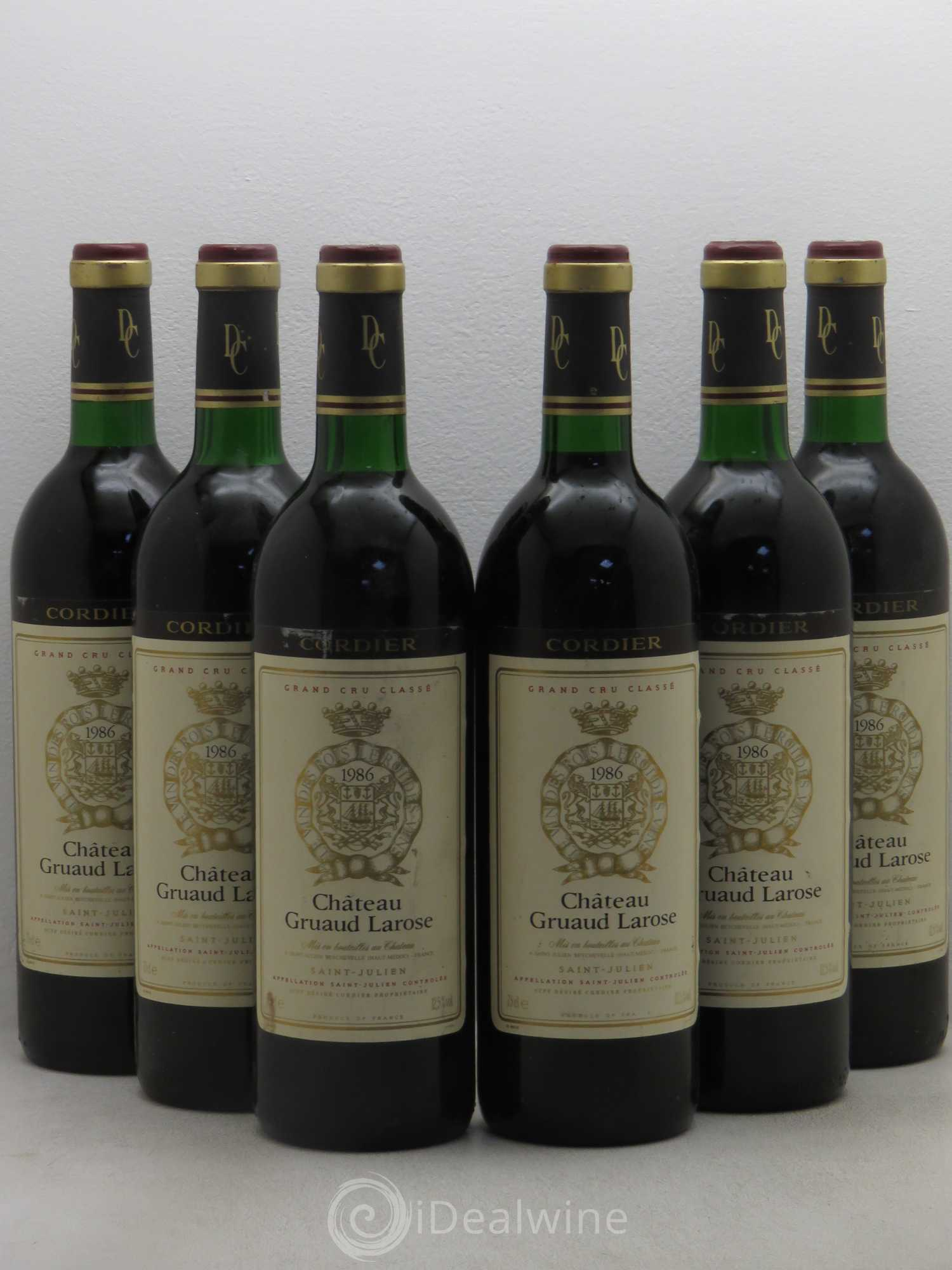 Buy ch teau gruaud larose 2 me grand cru class 1986 lot for Buy chateaubriand