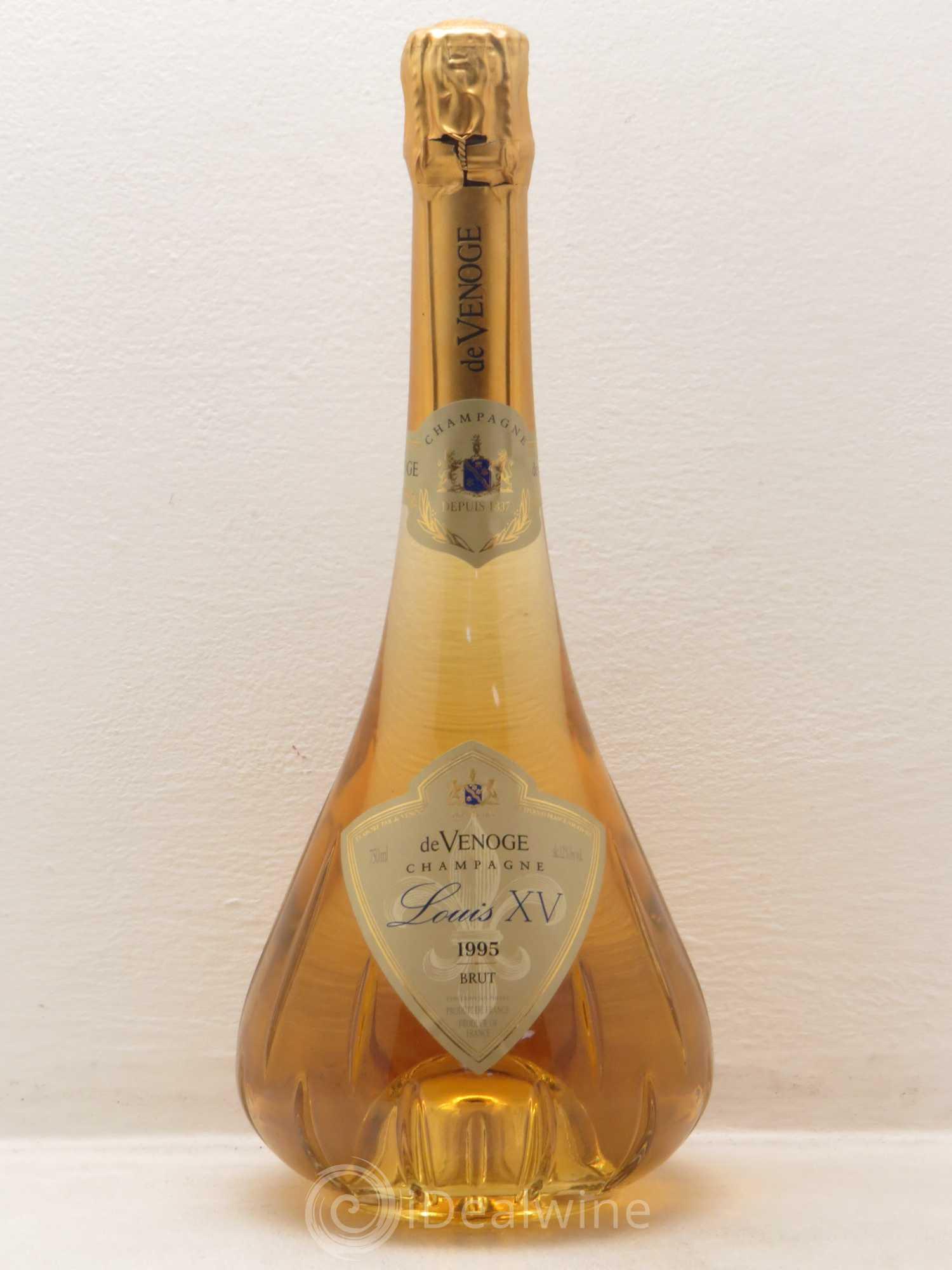 Buy Brut Champagne Cuvée Louis XV - de Venoge 1995 (lot: 3150)