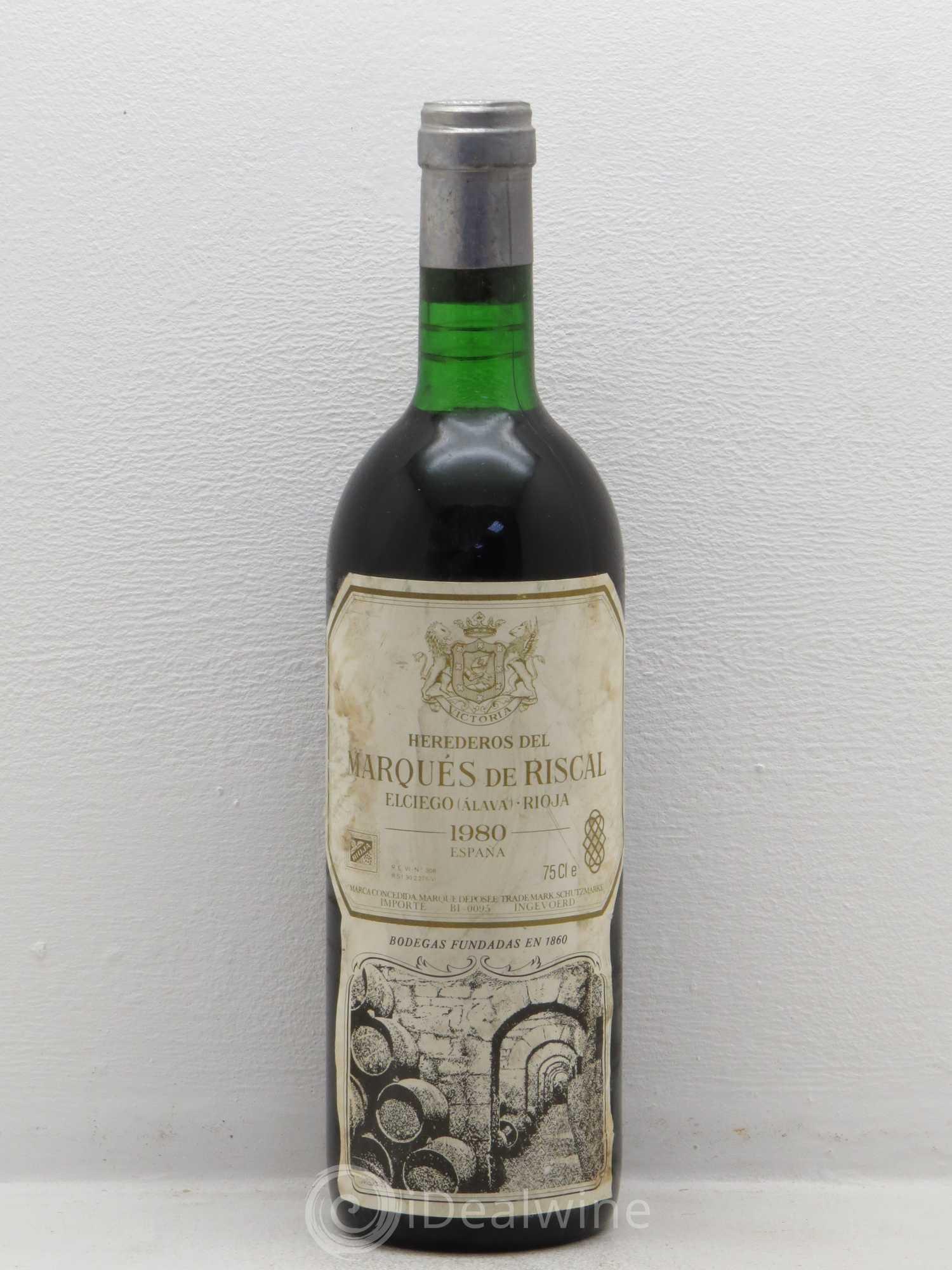 Buy rioja doca marques de riscal 1980 lot 6082 for Marques de riscal rioja