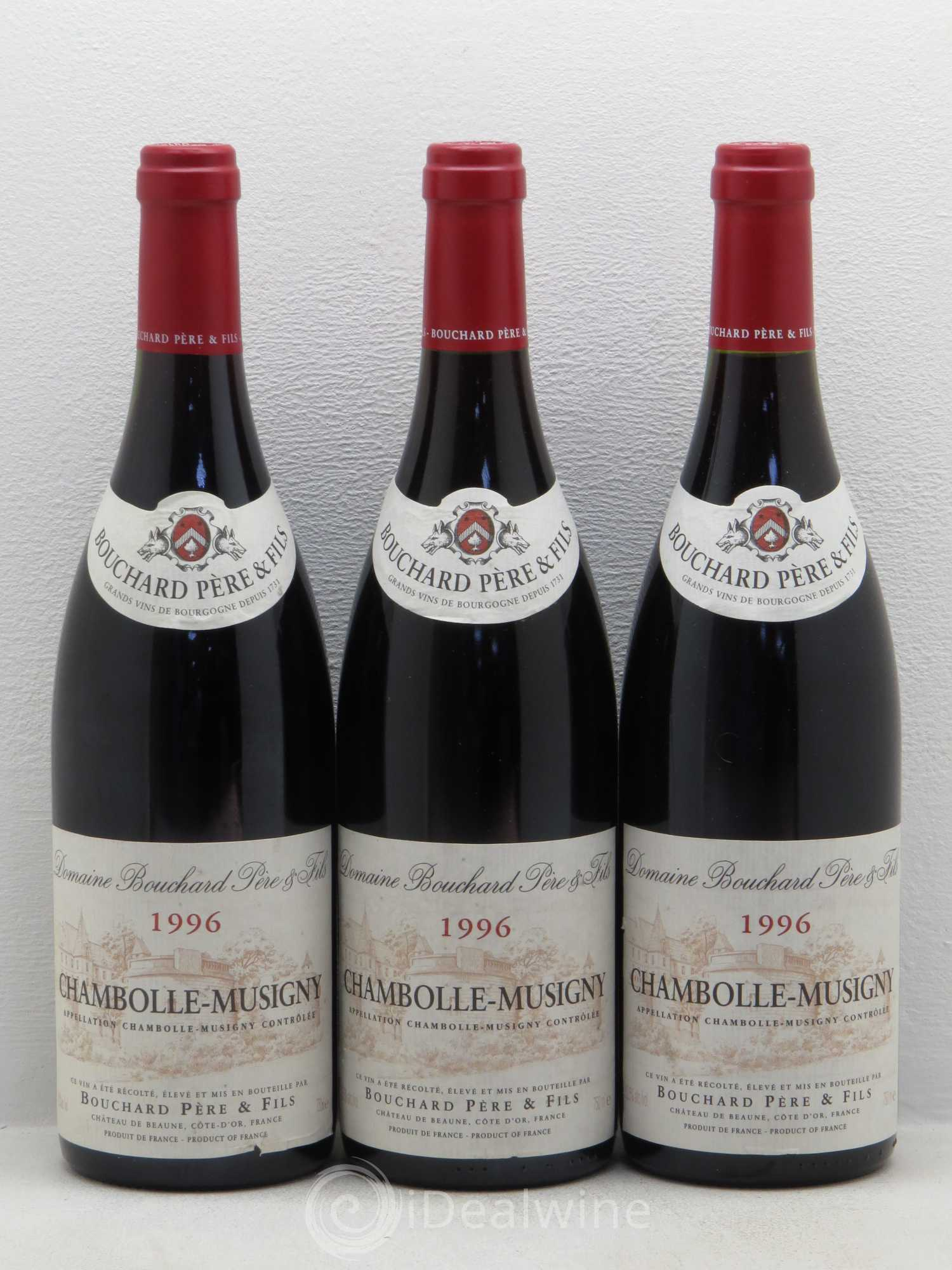 Chambolle-Musigny Bouchard Pere&Fils 1996 - Lot de 3 Bouteilles
