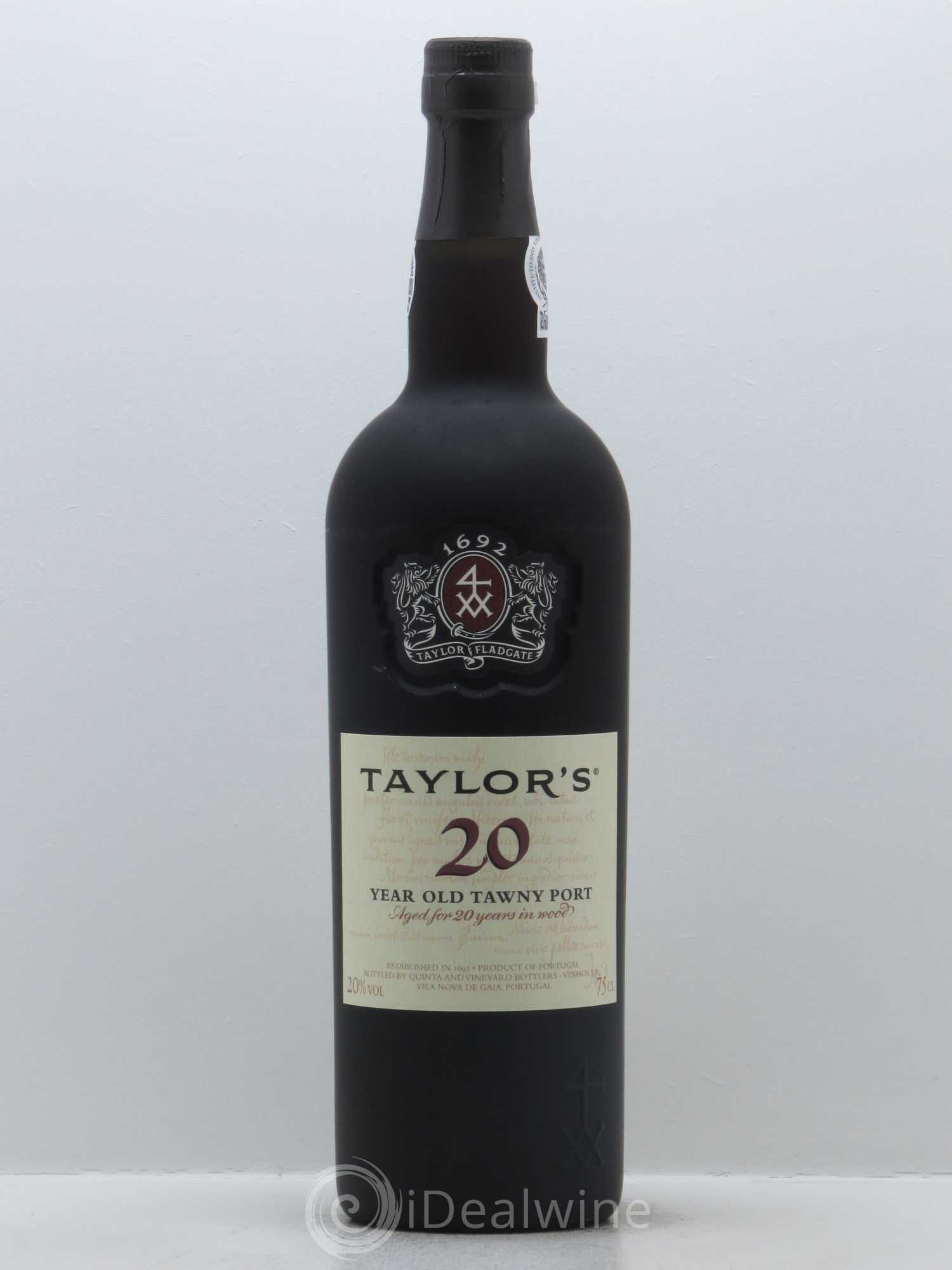 Porto Tawny Taylor 20 Old Year   - Lot of 1 Bottle