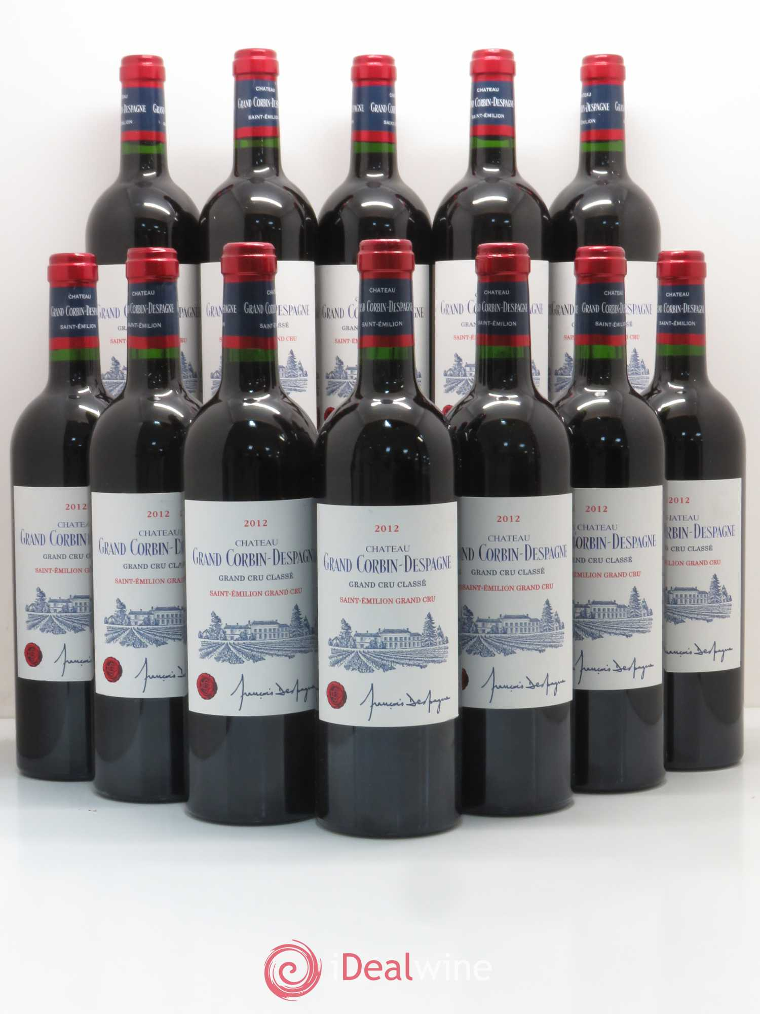 Château Grand Corbin Despagne Grand Cru Classé  2012 - Lot of 12 Bottles