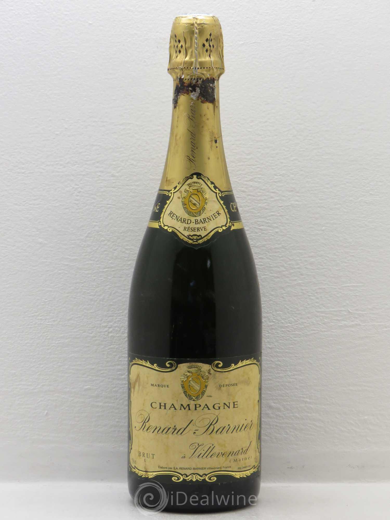 acheter brut champagne renard barnier r serve sans prix de r serve lot 1700. Black Bedroom Furniture Sets. Home Design Ideas