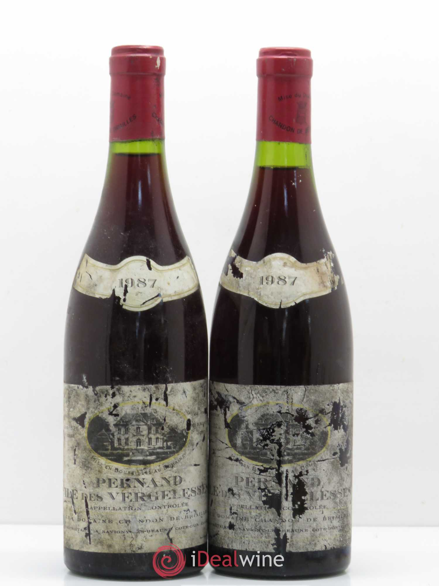 Pernand-Vergelesses 1er Cru Ile des Vergelesses Chandon de Briailles  1987 - Lot of 2 Bottles