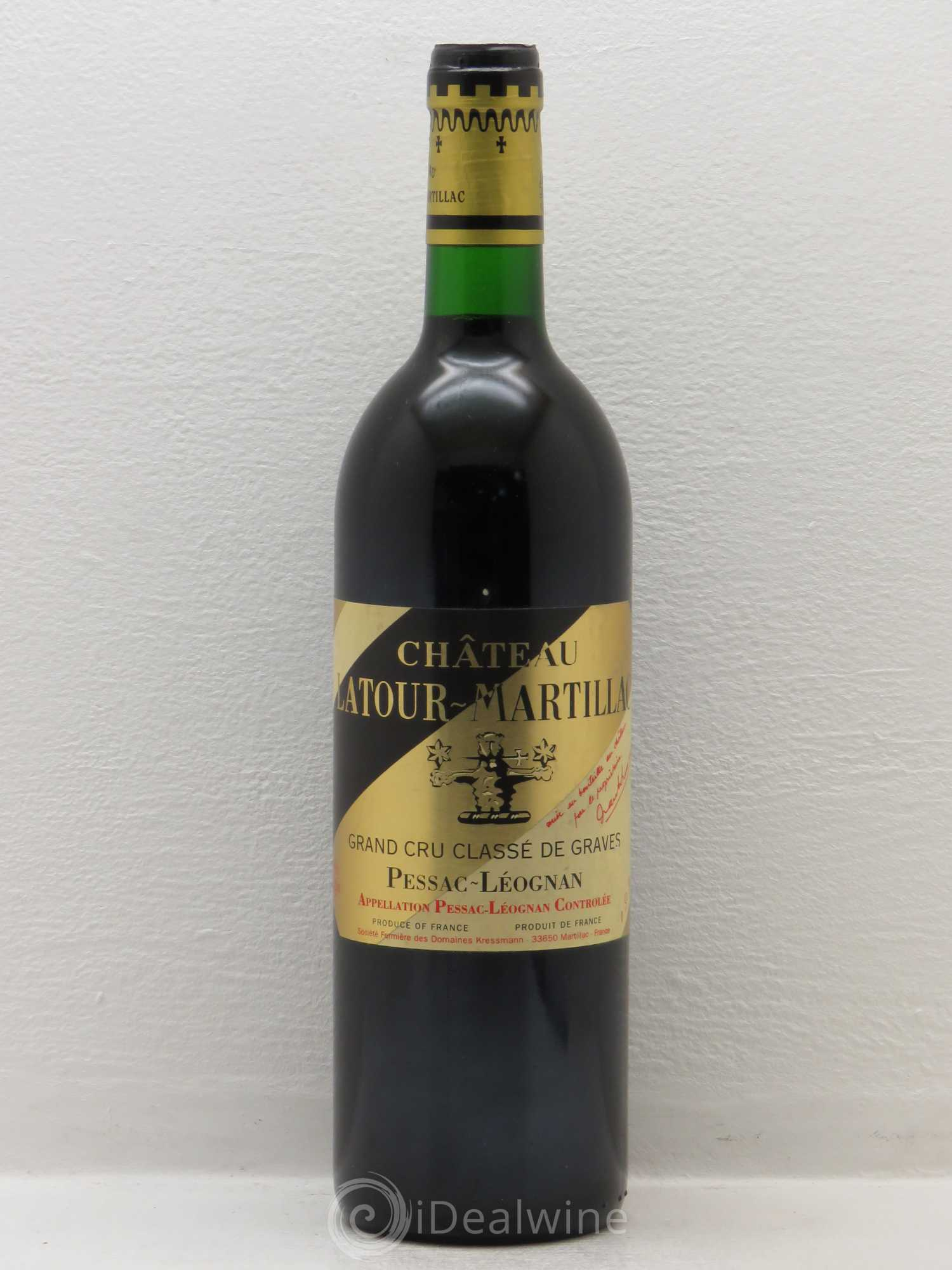 acheter ch teau latour martillac cru class de graves 1993 lot 6240. Black Bedroom Furniture Sets. Home Design Ideas