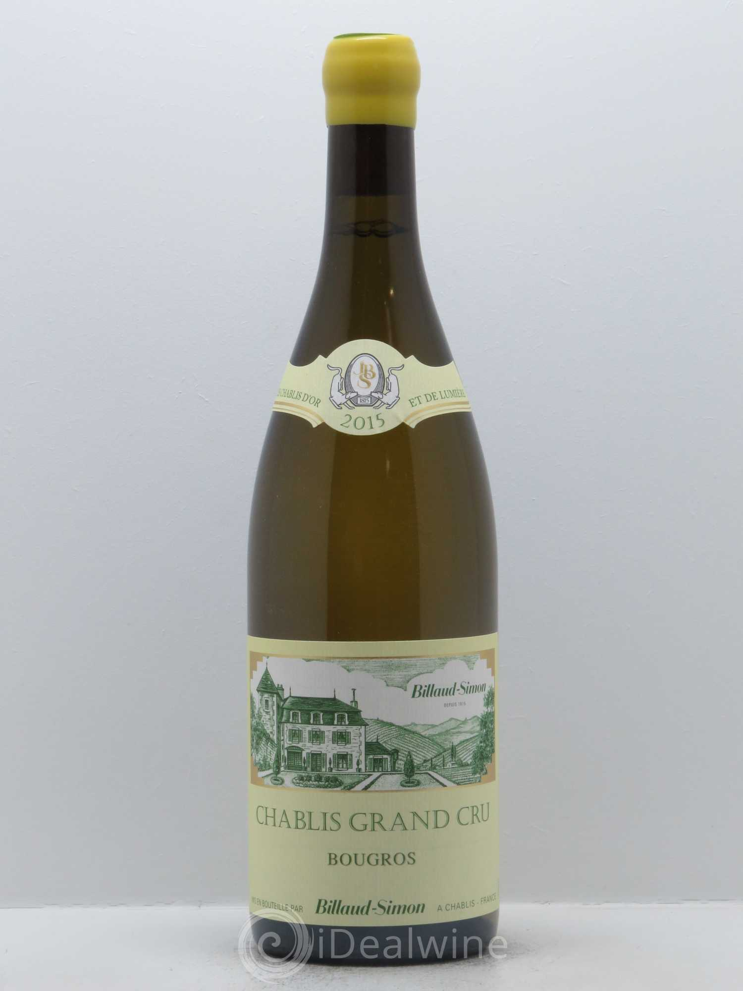Chablis Grand Cru Bougros Billaud-Simon (Domaine)  2015 - Lot of 1 Bottle