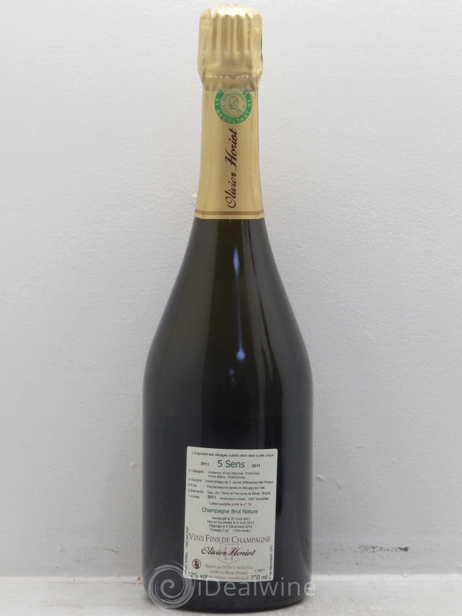 champagne 5 sens