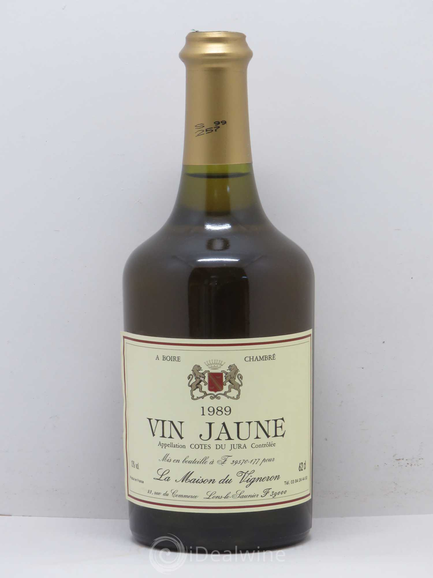 acheter jura vin jaune la maison du vigneron 1989 lot 1529. Black Bedroom Furniture Sets. Home Design Ideas
