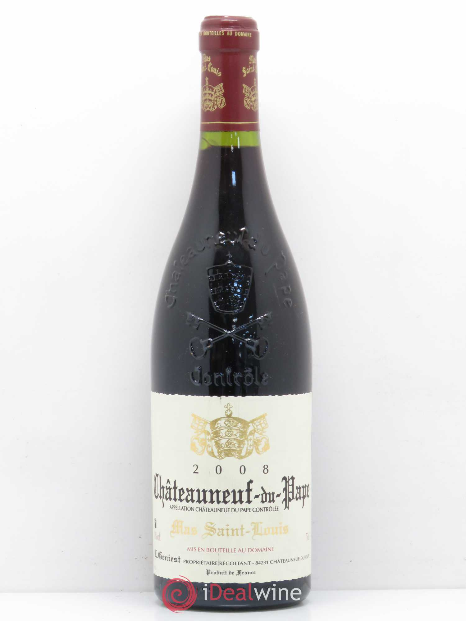 Châteauneuf-du-Pape Mas Saint Louis 2008 - Lot of 1 Bottle