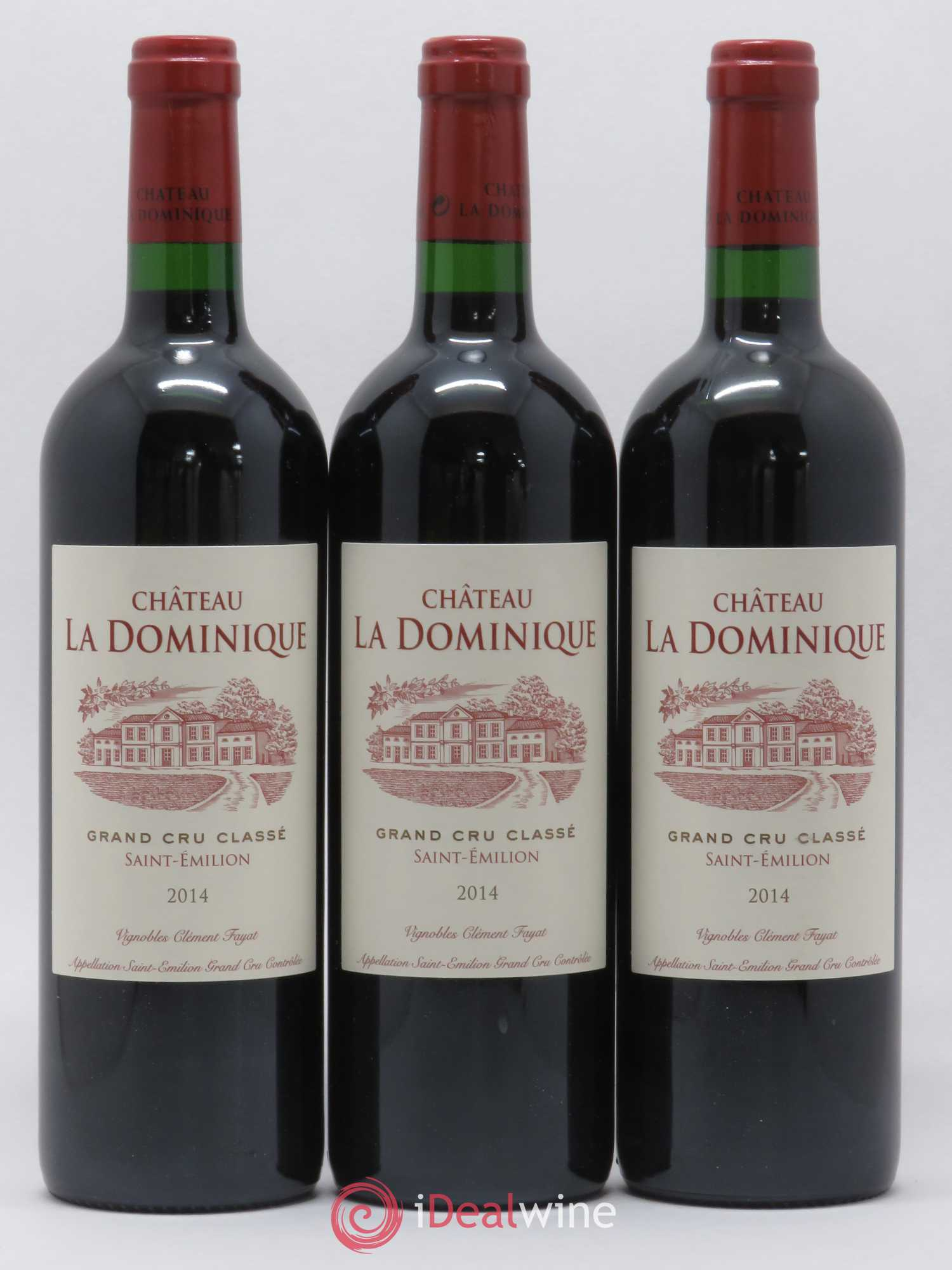 Château la Dominique Grand Cru Classé  2014 - Lot of 3 Bottles