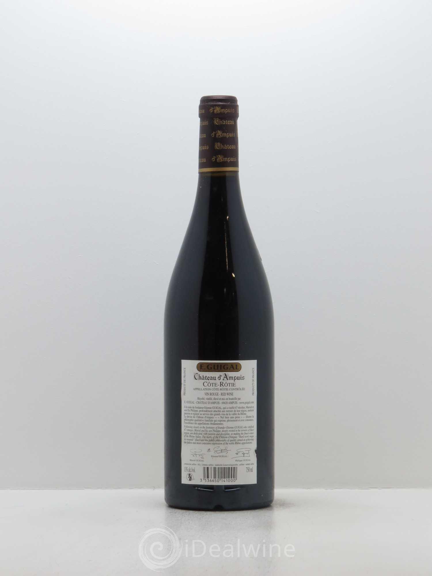 Acheter c te r tie ch teau d 39 ampuis guigal 2004 lot 2077 - Salon des vins ampuis ...