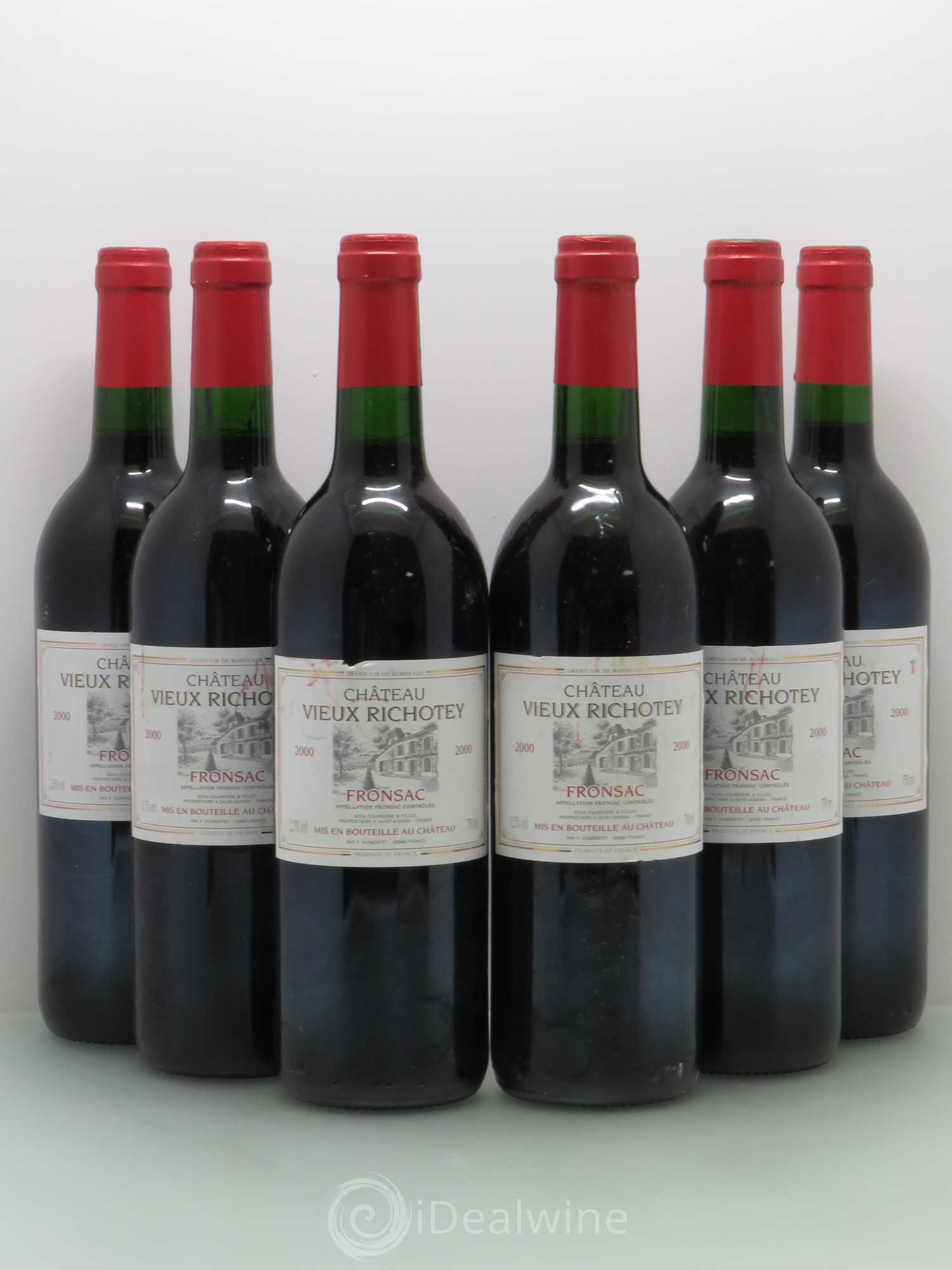 Fronsac Chateau Vieux Richotey (no reserve) 2000 - Lot of 6 Bottles