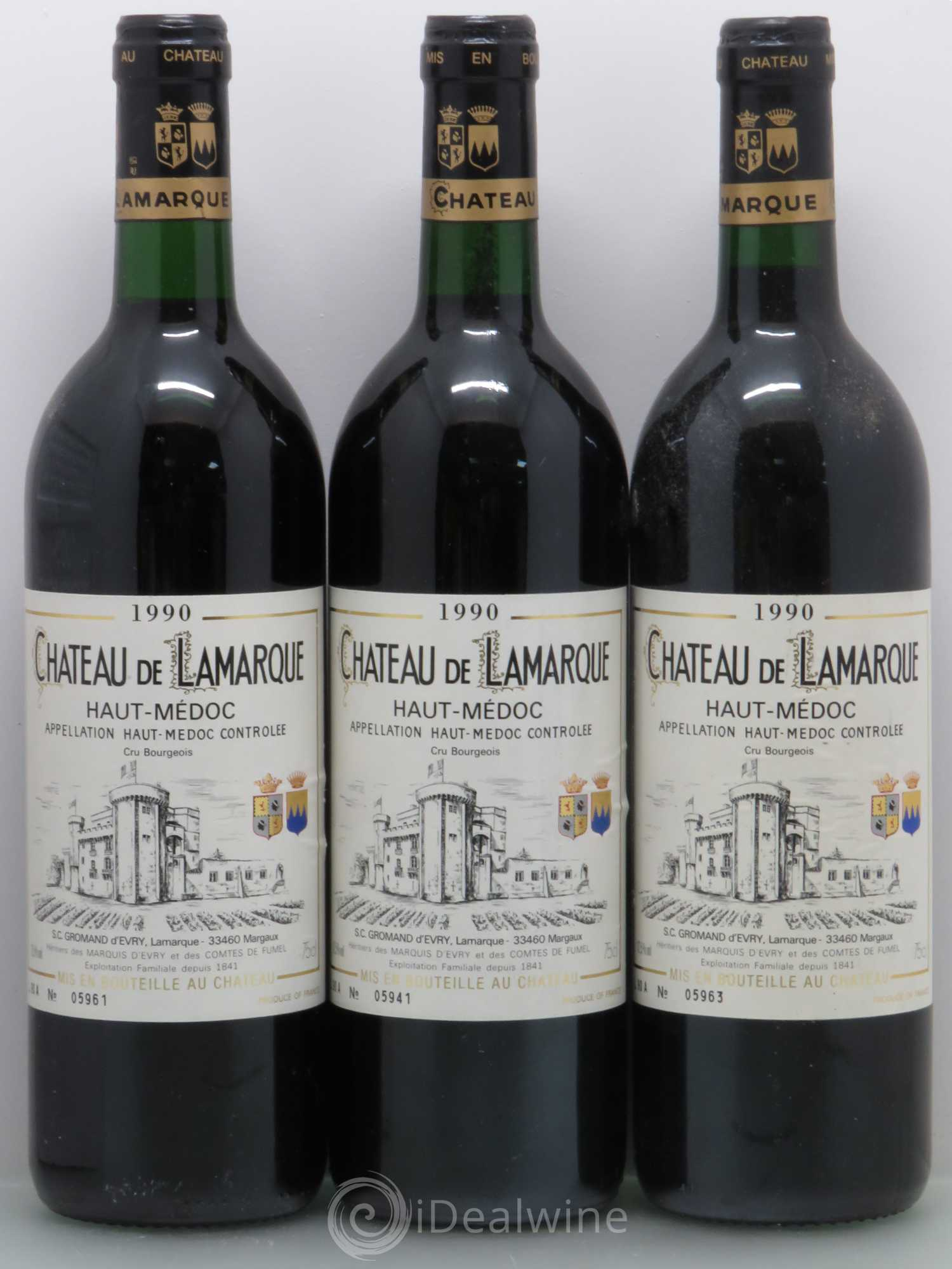 Buy ch teau de lamarque cru bourgeois 1990 lot 6086 for Buy chateaubriand