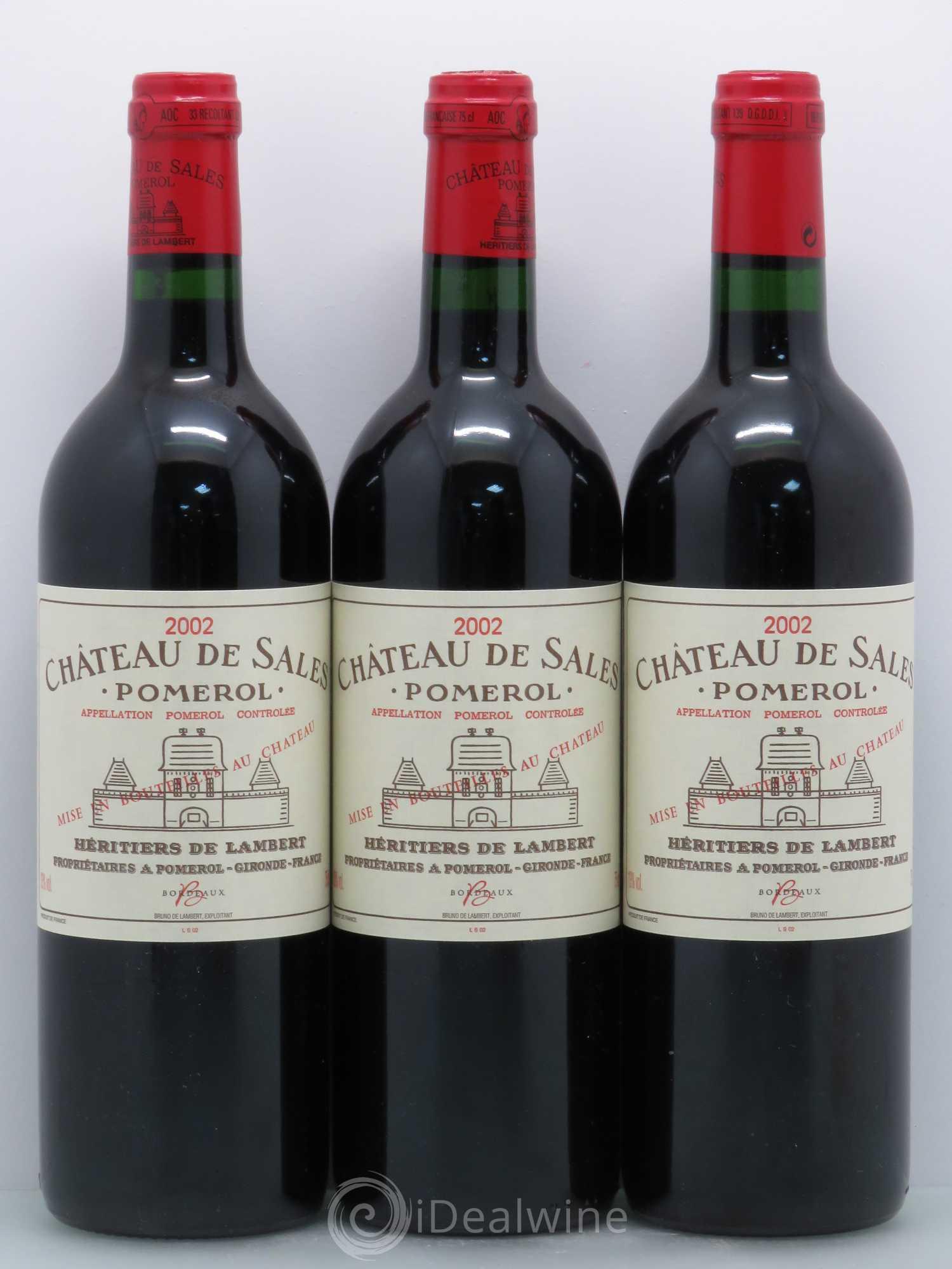 buy château de sales 2002 (lot: 6641)