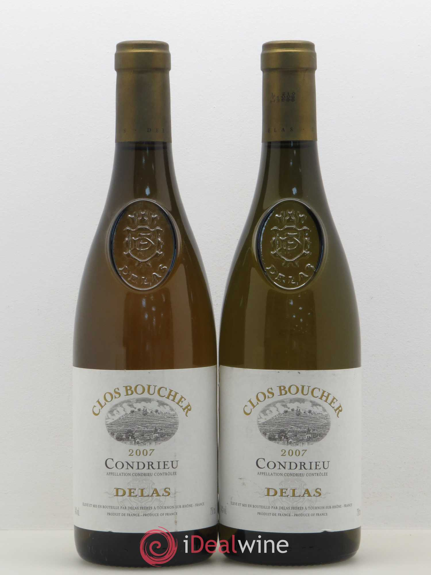 Condrieu Clos Boucher Delas Frères  2007 - Lot of 2 Bottles