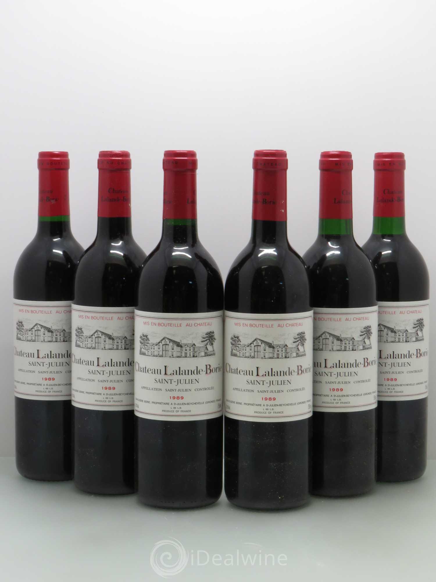 Buy Ch Teau Lalande Borie Cru Bourgeois 1989 Lot 8598
