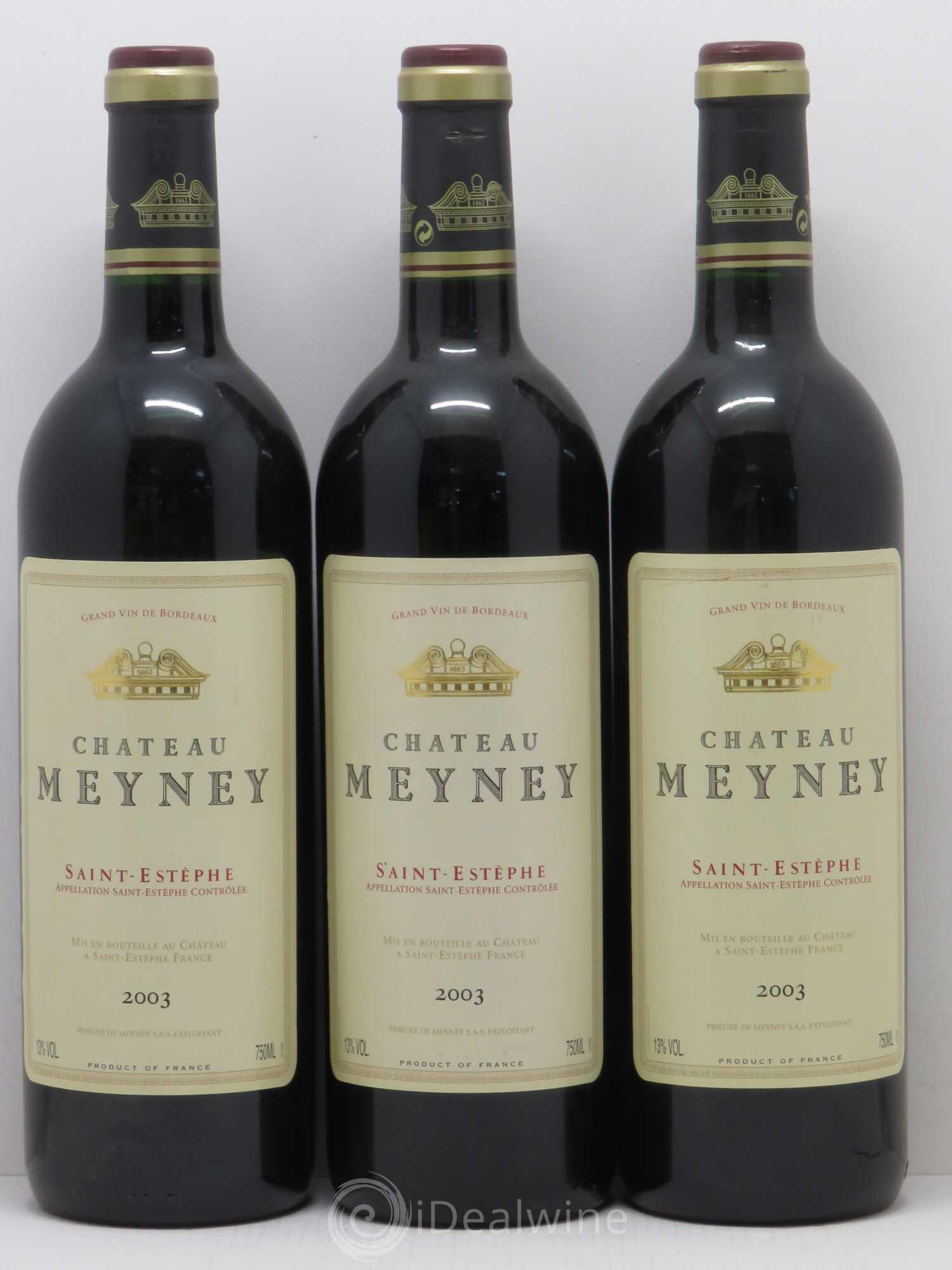 Acheter ch teau meyney cru bourgeois 2003 lot 11546 for Chateau meyney