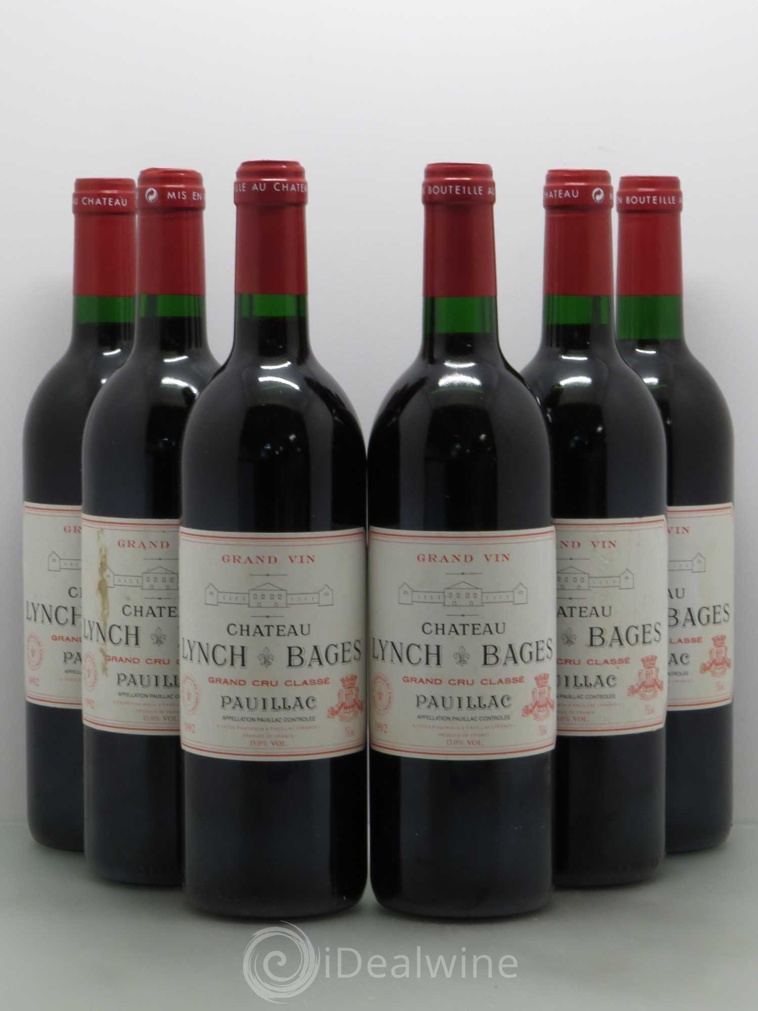 Buy ch teau lynch bages 5 me grand cru class 1992 lot 6640 for Buy chateaubriand