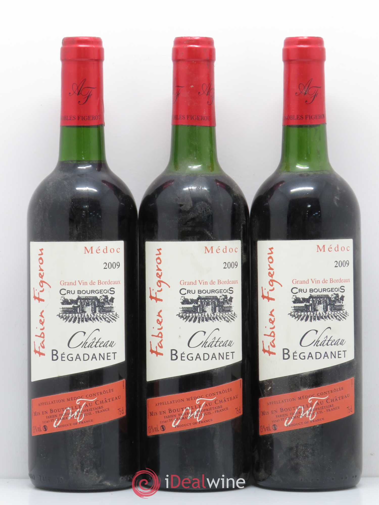 Médoc Château Begadanet (no reserve) 2009 - Lot of 3 Bottles