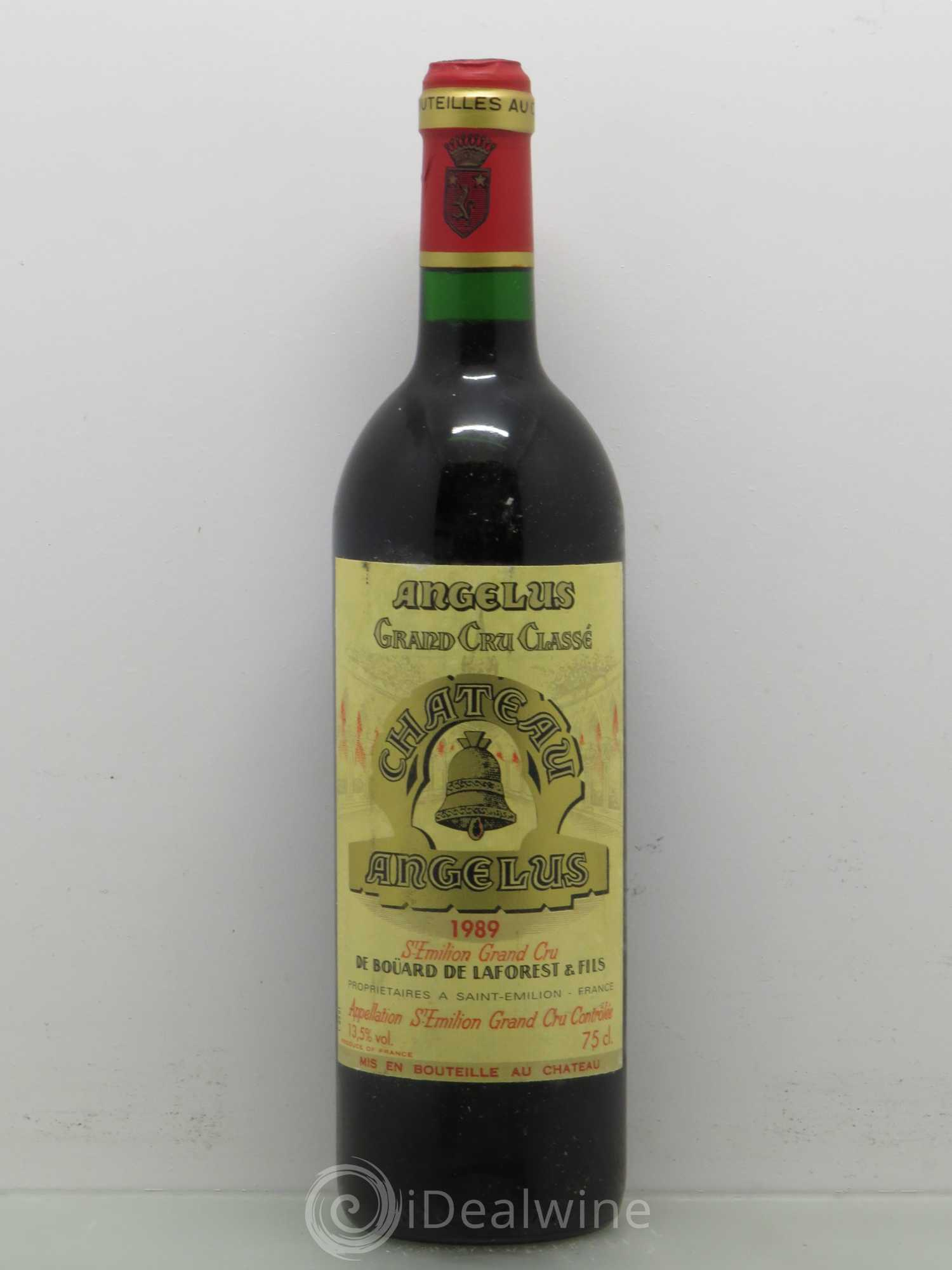 Buy ch teau ang lus 1er grand cru class a 1989 lot 6502 for Chateau angelus