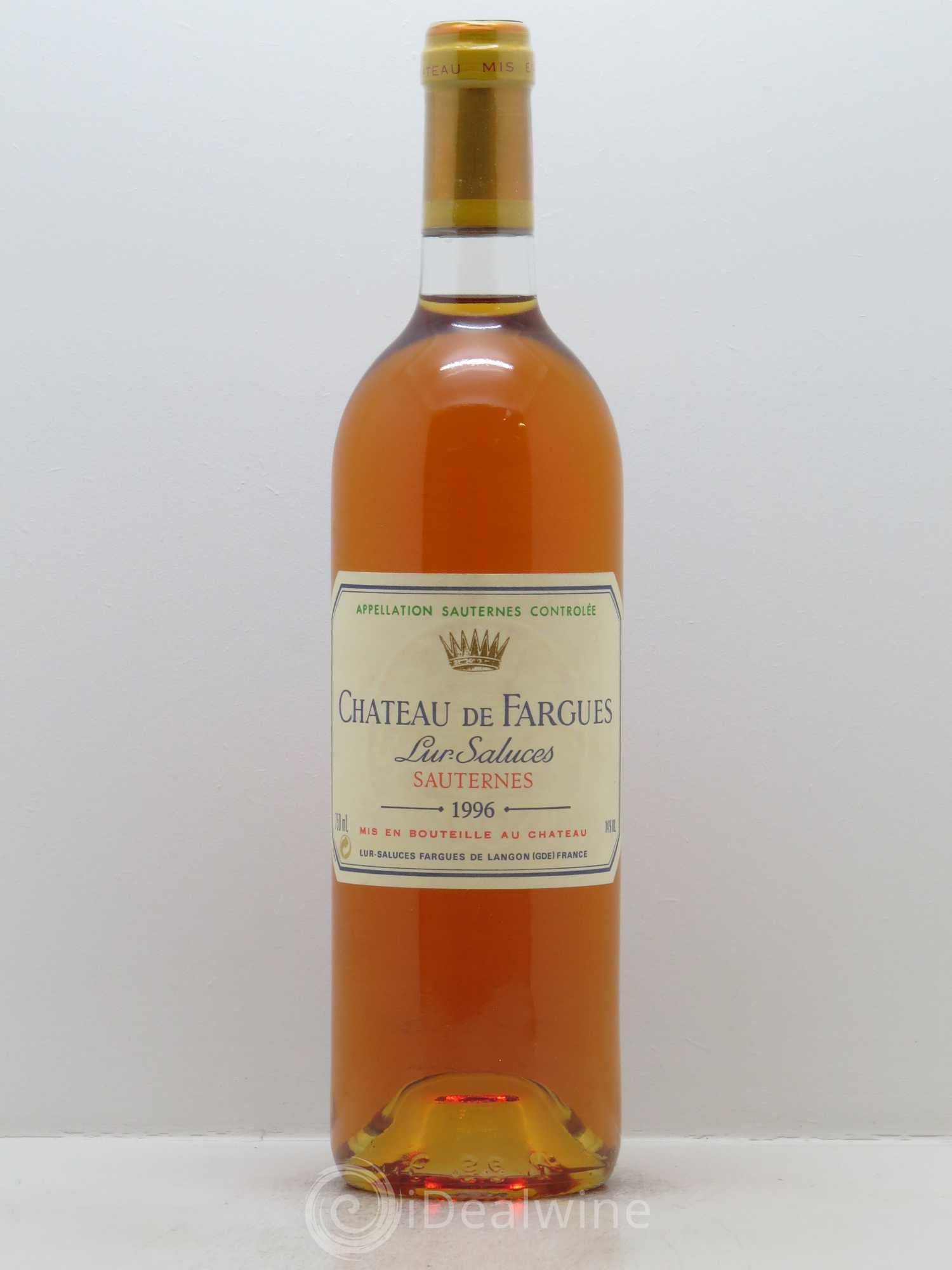 Buy ch teau de fargues 1996 lot 2318 for Buy chateaubriand