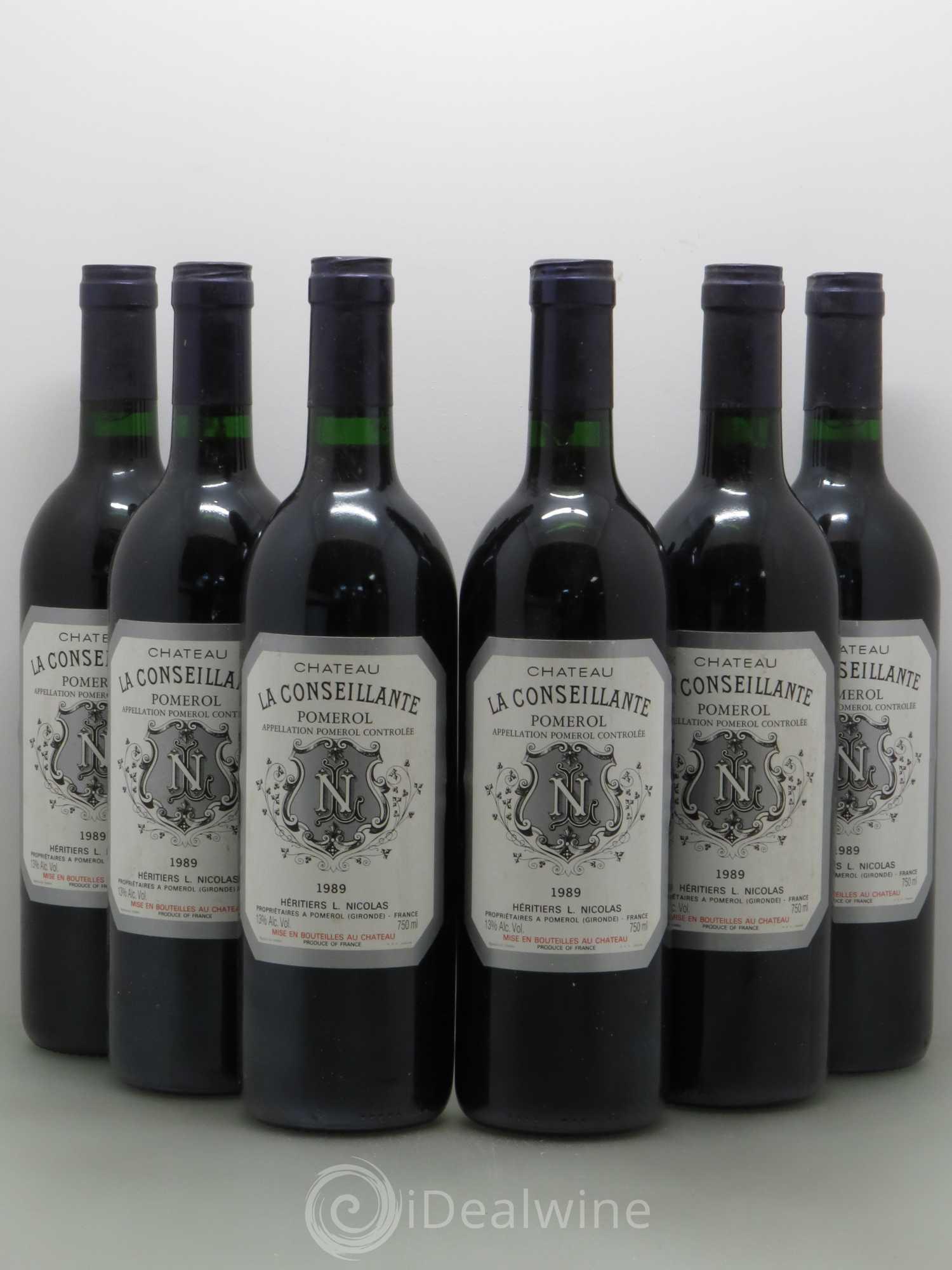 Buy ch teau la conseillante 1989 lot 7049 for Buy chateaubriand