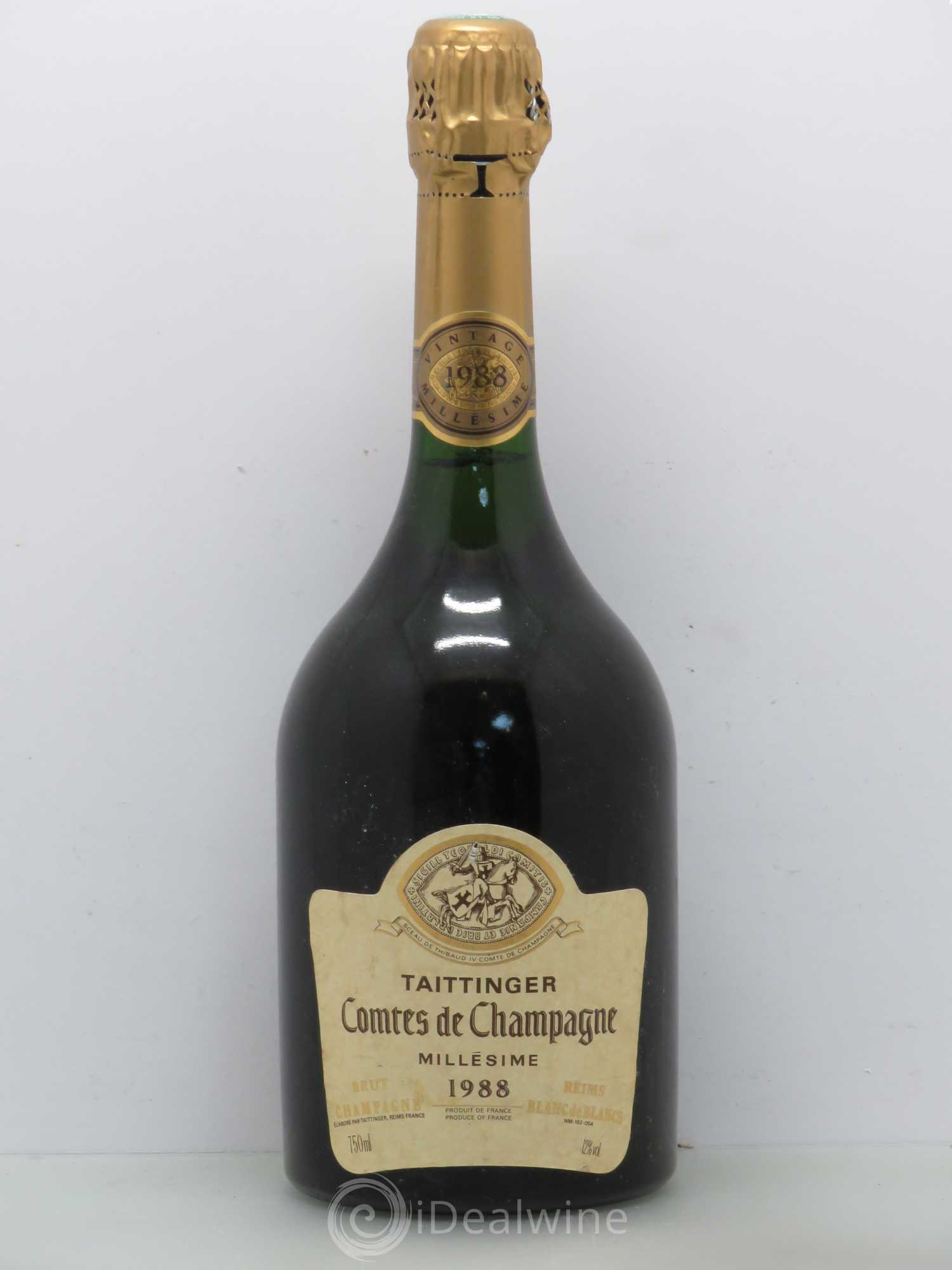 acheter comtes de champagne champagne taittinger 1988 lot 1386. Black Bedroom Furniture Sets. Home Design Ideas