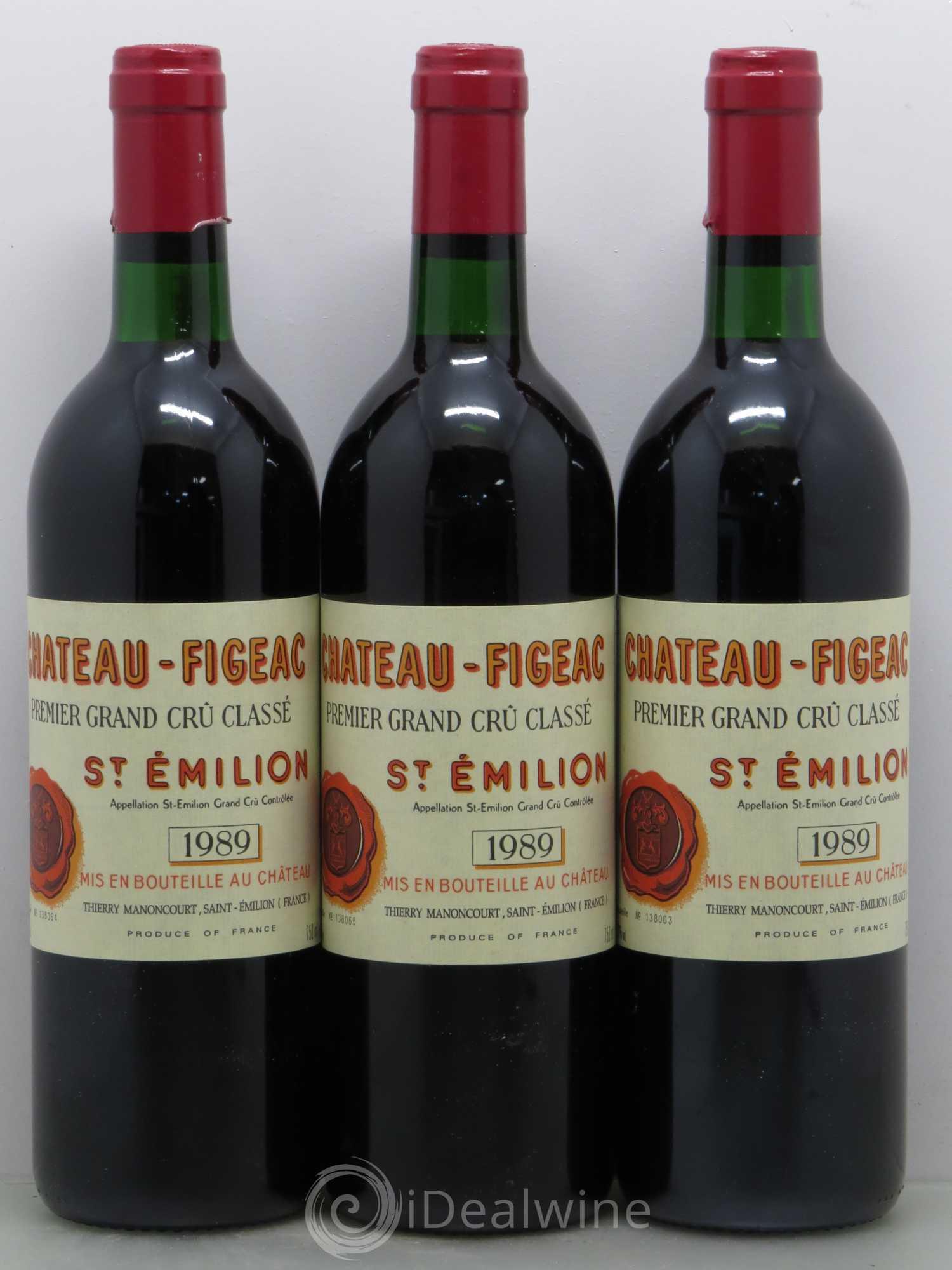 Buy ch teau figeac 1er grand cru class b 1989 lot 8555 for Buy chateaubriand