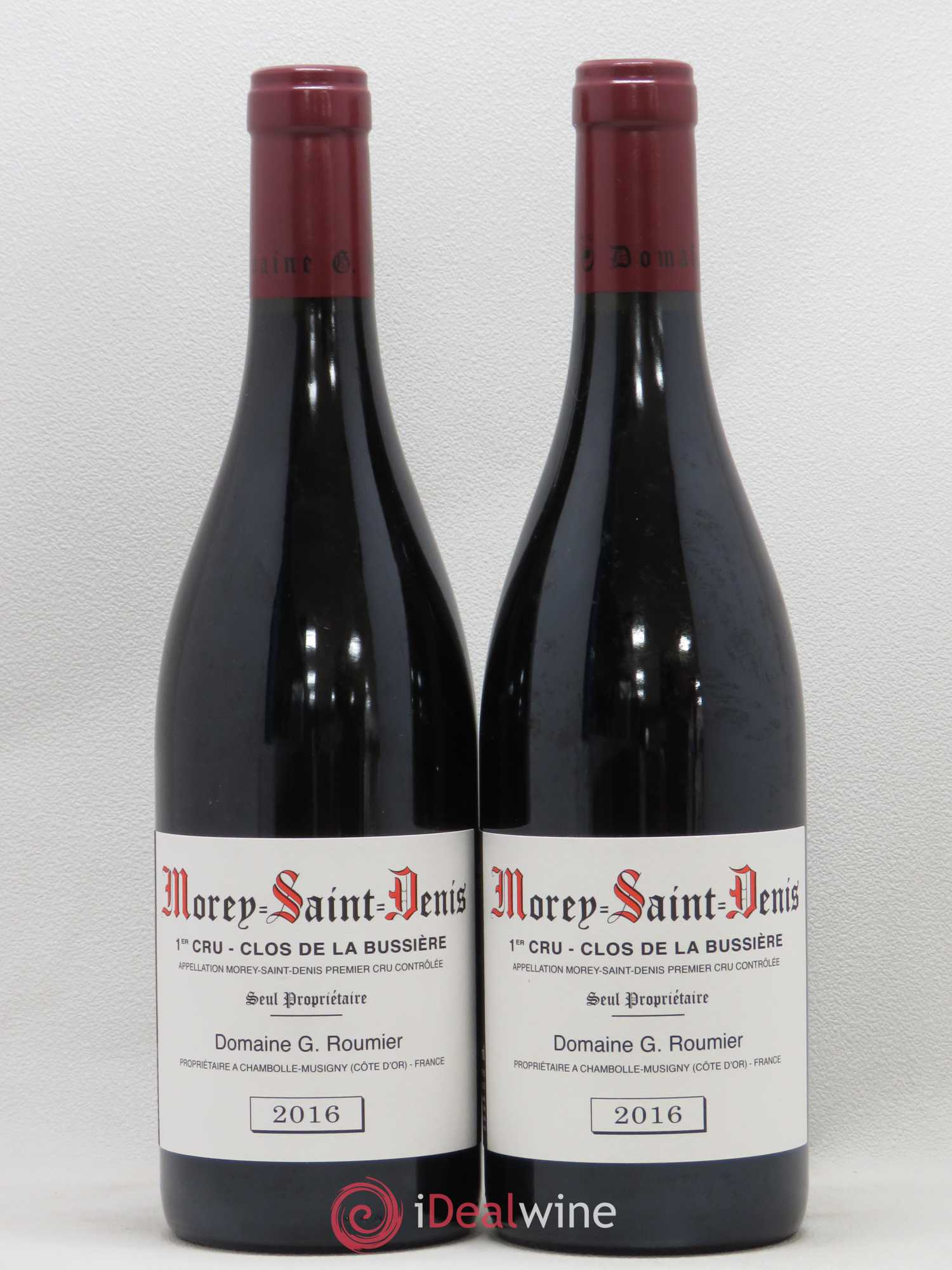 Morey Saint-Denis 1er Cru Clos de la Bussière Georges Roumier (Domaine)  2016 - Lot of 2 Bottles