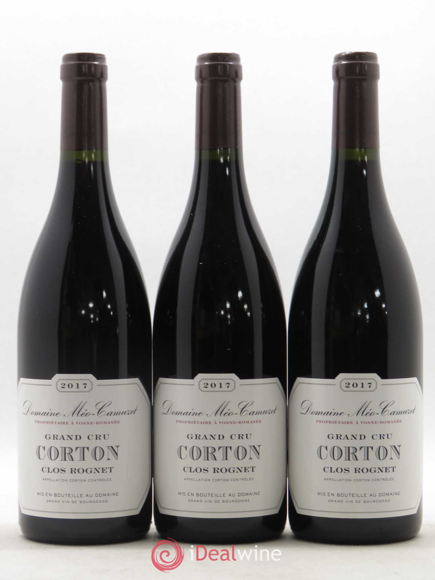 Corton Grand Cru Clos Rognet Méo-Camuzet (Domaine)  2017 - Lot of 3 Bottles