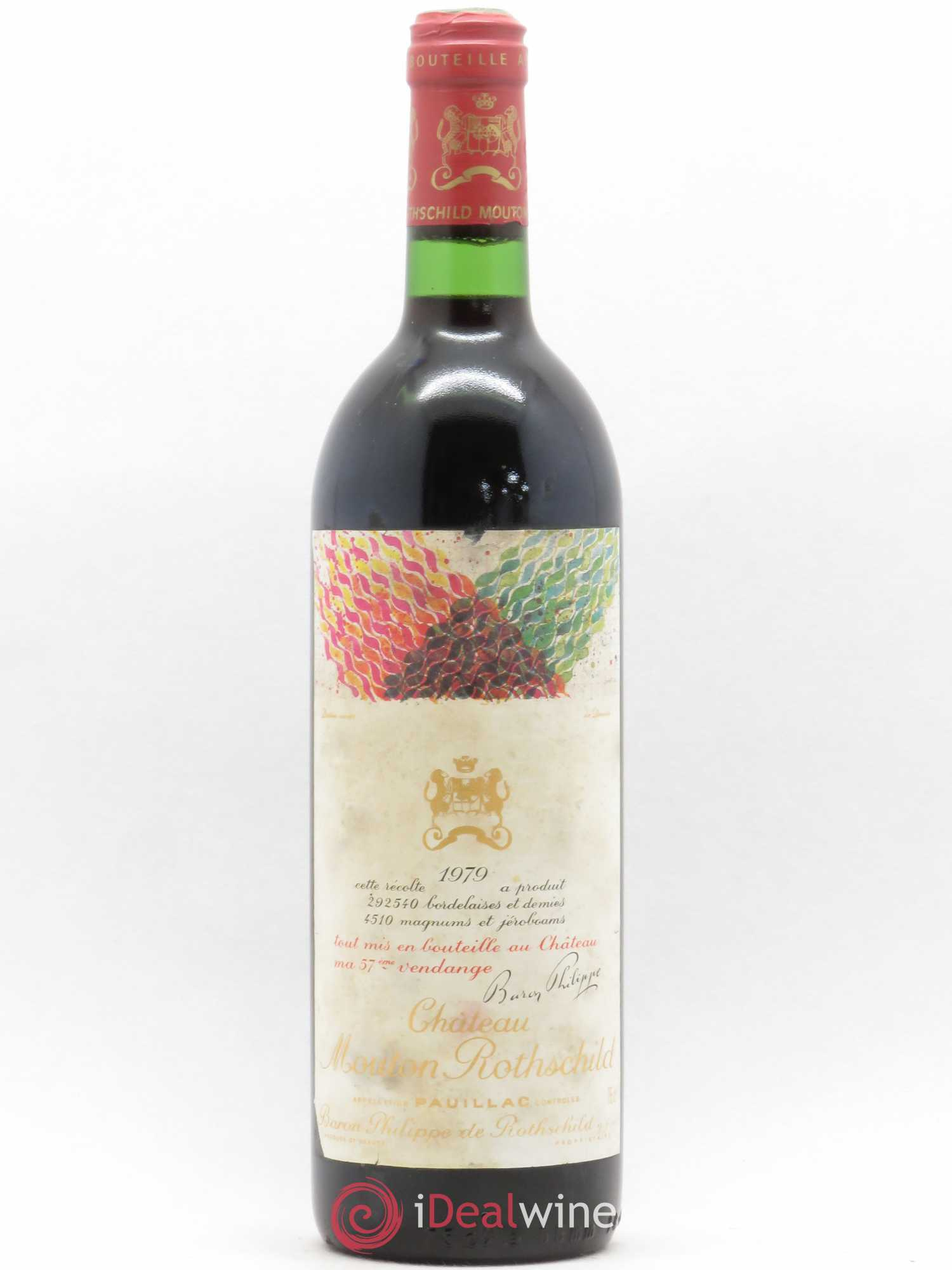 Château Mouton Rothschild 1er Grand Cru Classé  1979 - Lot of 1 Bottle