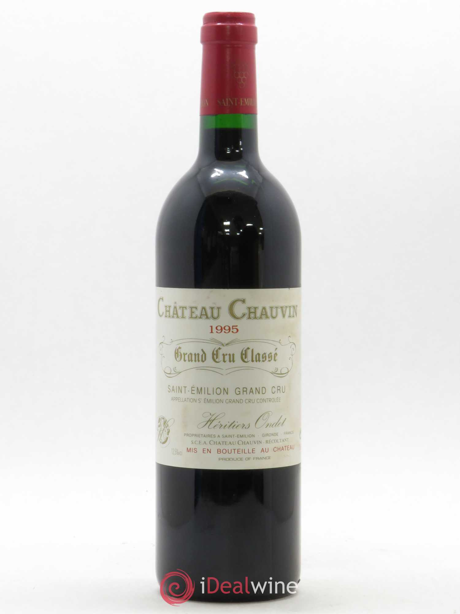 Château Chauvin Grand Cru Classé  1995 - Lot of 1 Bottle