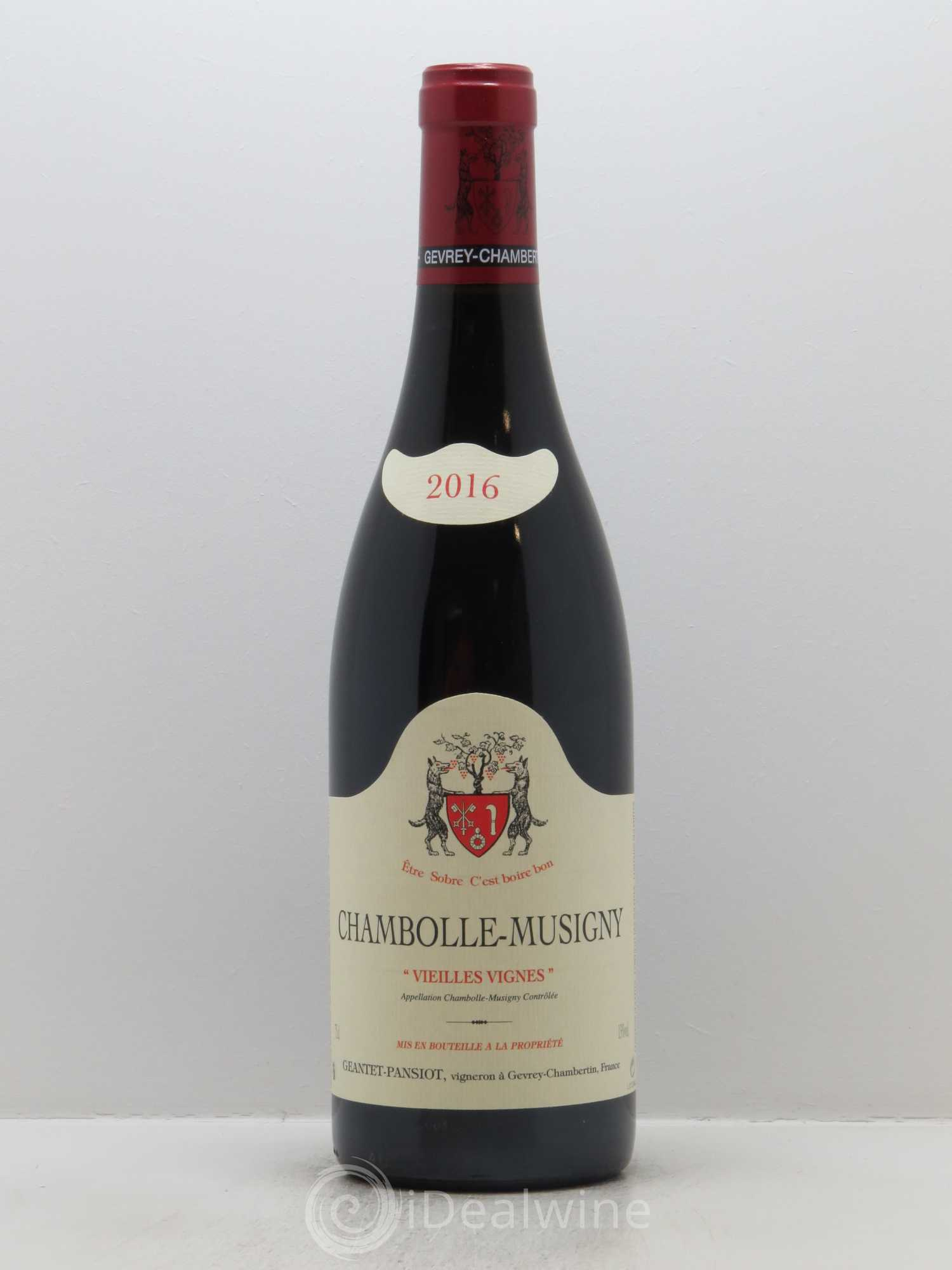 Chambolle-Musigny Vieilles vignes Geantet-Pansiot  2016 - Lot of 1 Bottle