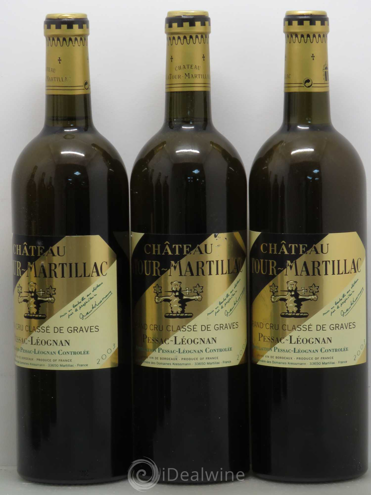 acheter ch teau latour martillac cru class de graves 2003 lot 13559. Black Bedroom Furniture Sets. Home Design Ideas